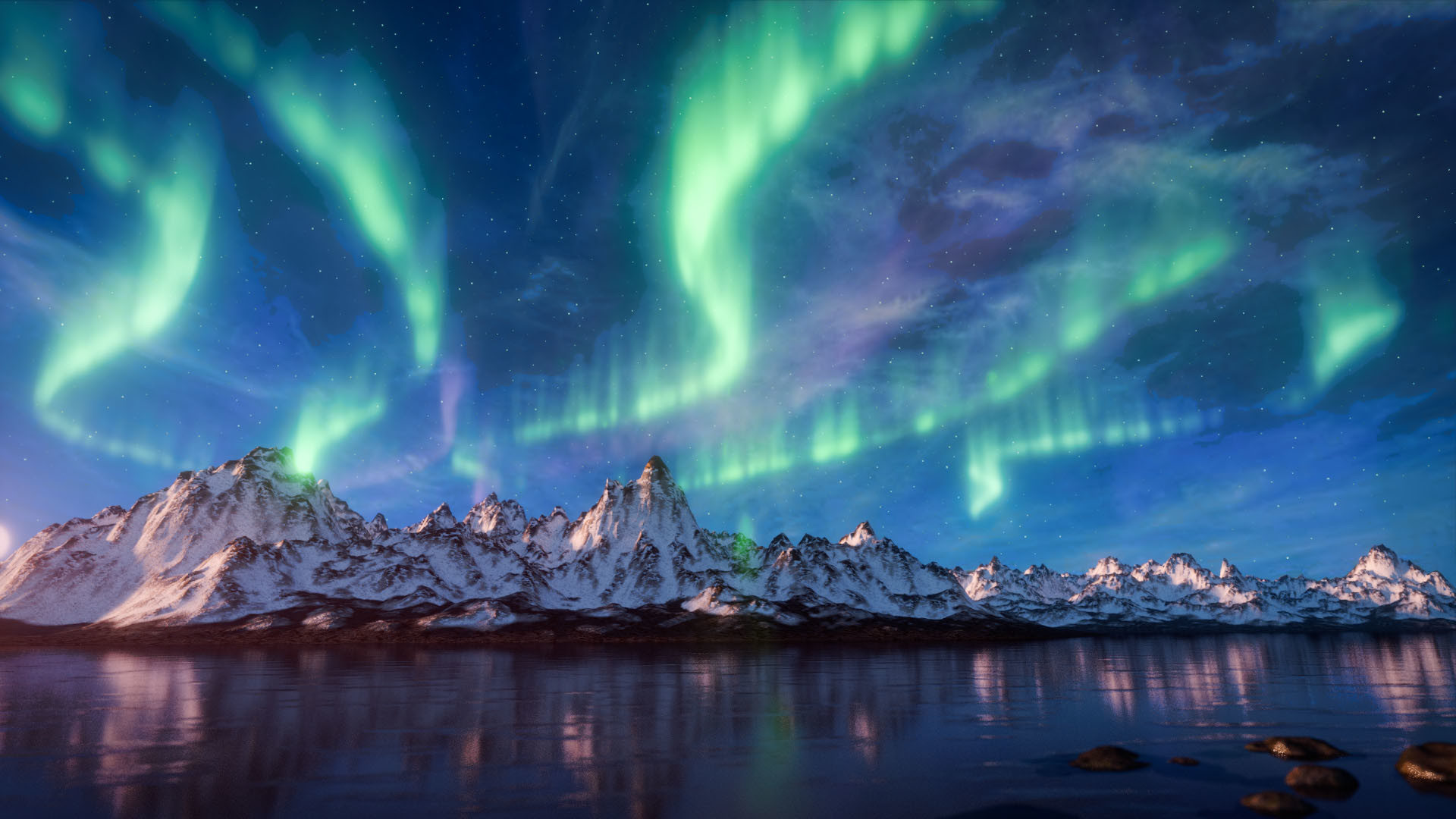 ArtStation - The Aurora Borealis, Steve Lund