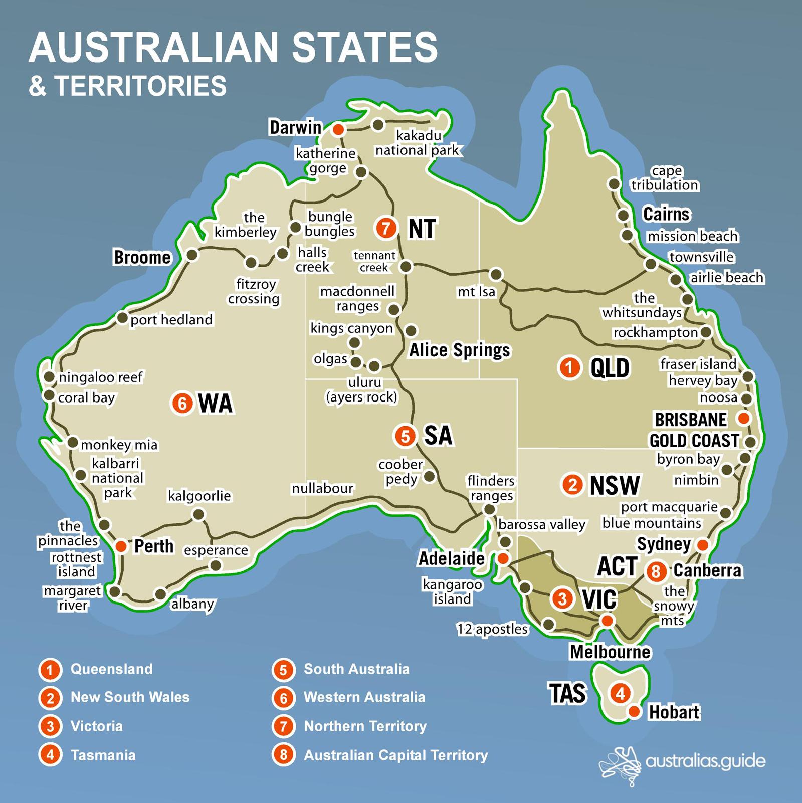 Map of Australia | Australia's Guide