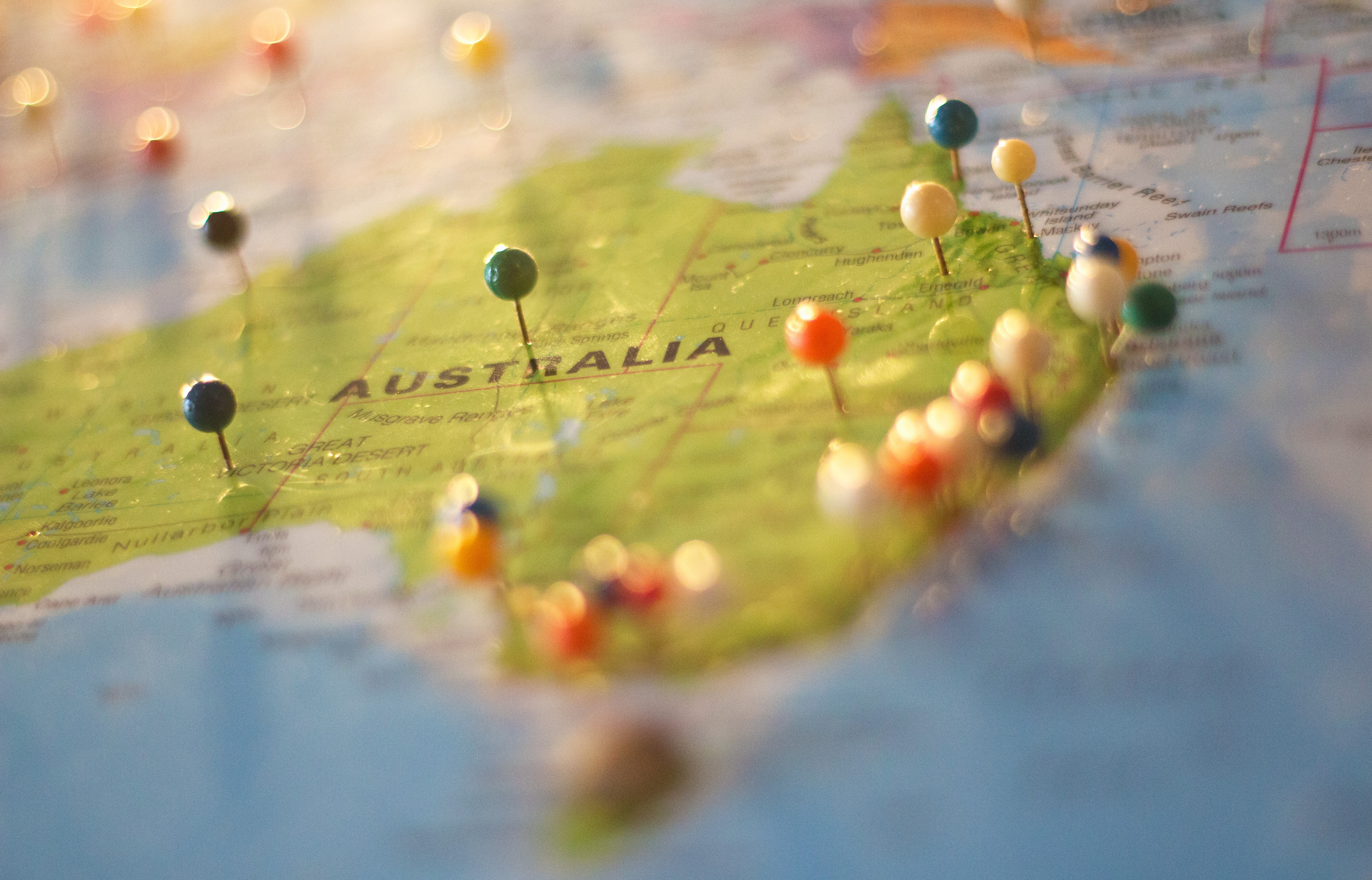 Australia Map, Australia, Destination, Geography, Locations, HQ Photo