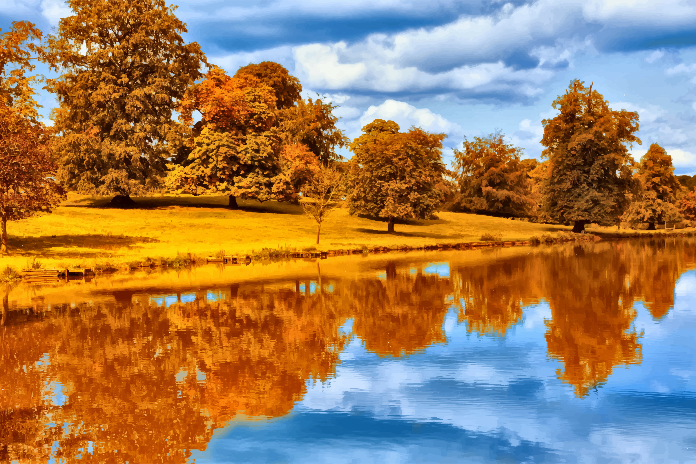 Autumn By The Lake Icons PNG - Free PNG and Icons Downloads