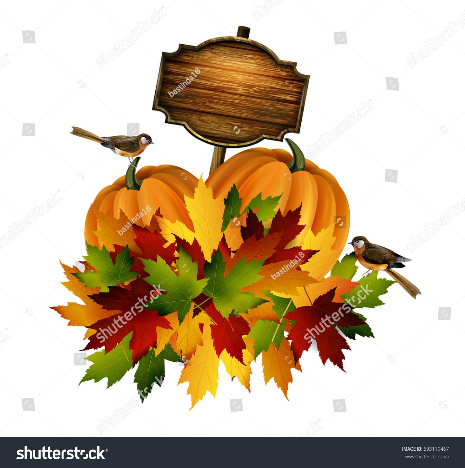 Thanksgiving Vector Autumn Composition Stock Photo (Photo, Vector ...