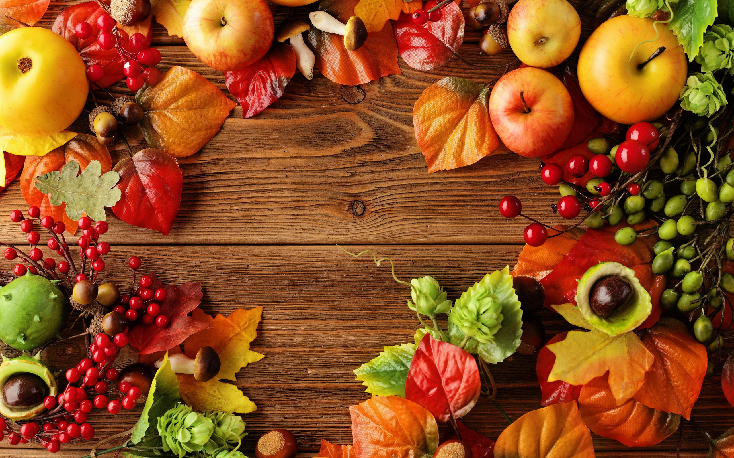 2560x1600 Autumn, Leaves, Berries, Berries, Chestnuts, Fruits Of ...