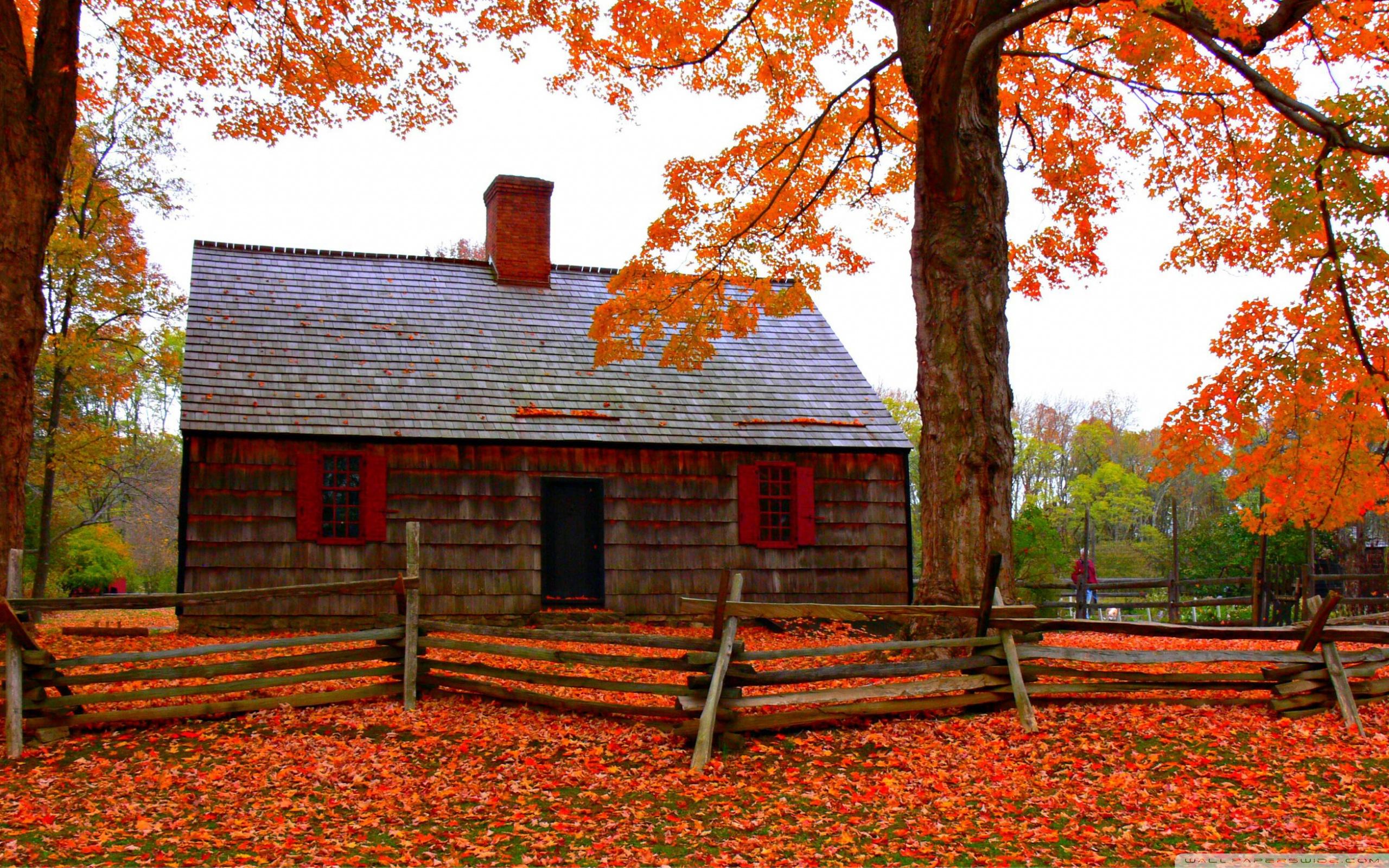 Autumn Cottage ❤ 4K HD Desktop Wallpaper for 4K Ultra HD TV ...