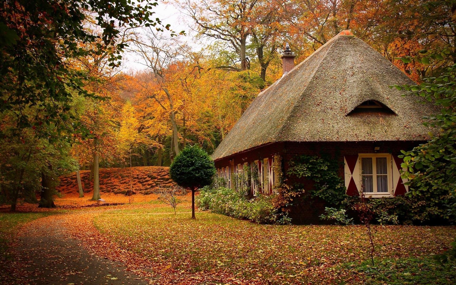 Autumn Cottage - Download Hd Autumn Cottage wallpaper for desktop ...
