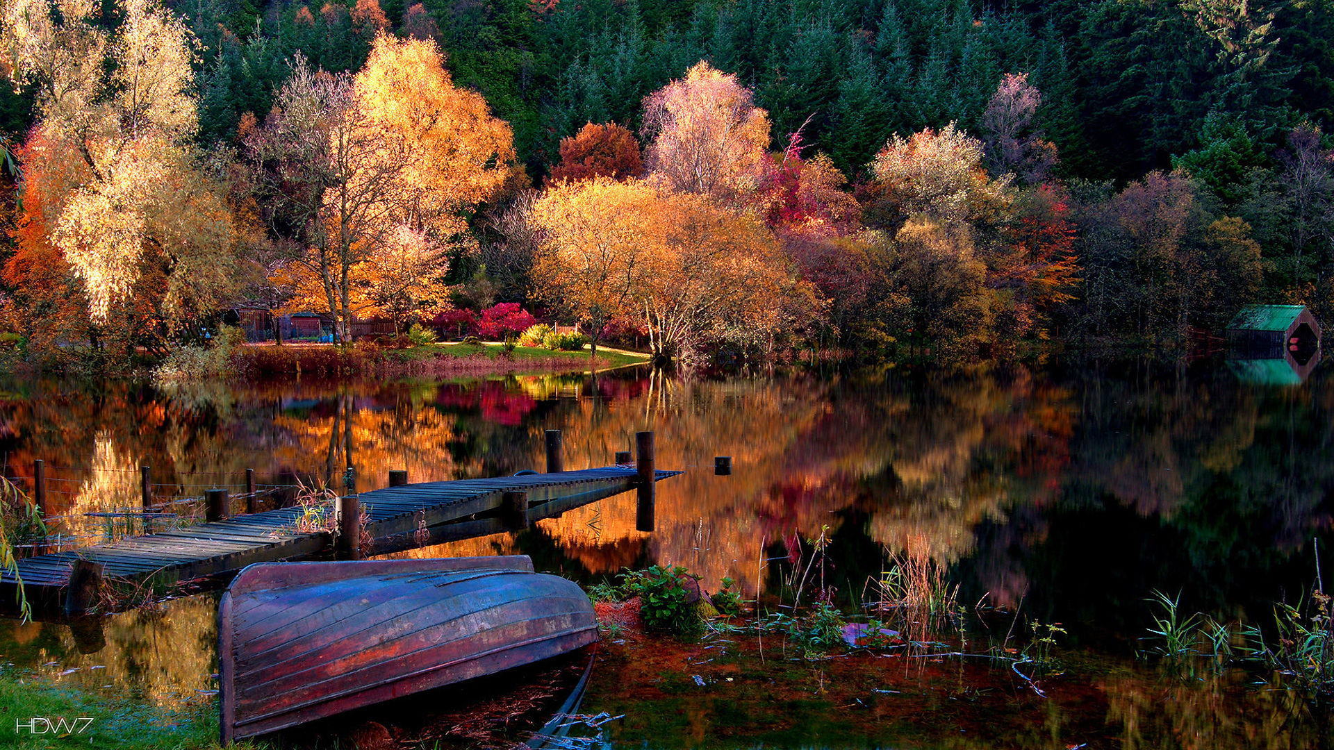 autumn lake scenery 1920x1080 | HD wallpaper gallery #21