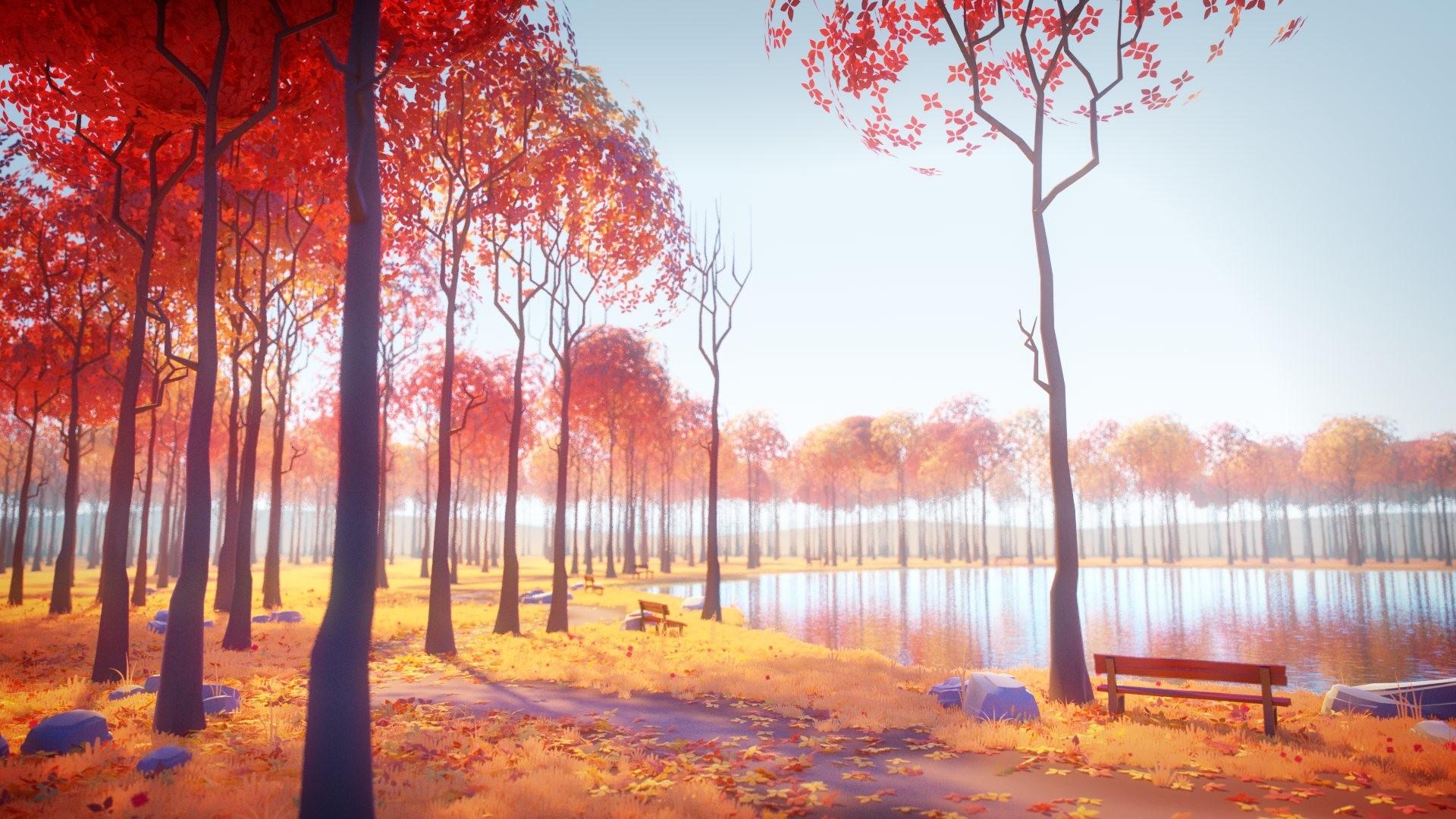 ArtStation - Autumn Lake, Milan Vasek