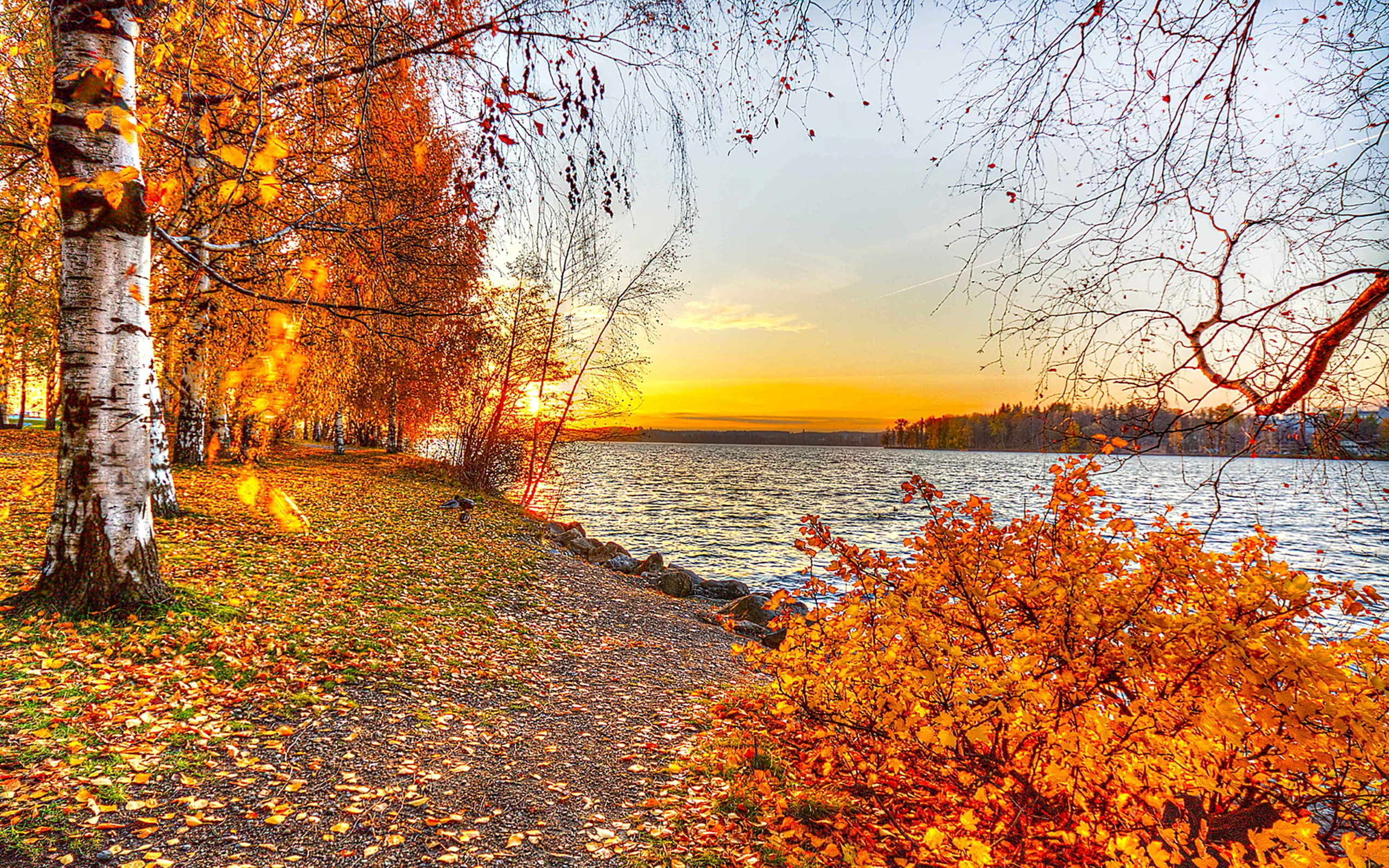 Autumn Lake Sunset 604132 : Wallpapers13.com