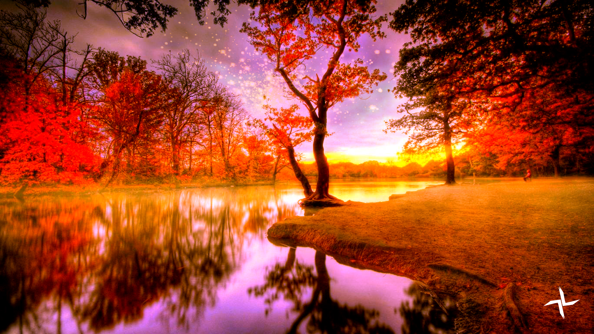 Autumn Lake by MartijnVn on DeviantArt