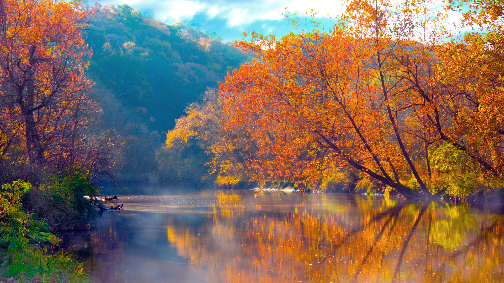 Autumn lake photo
