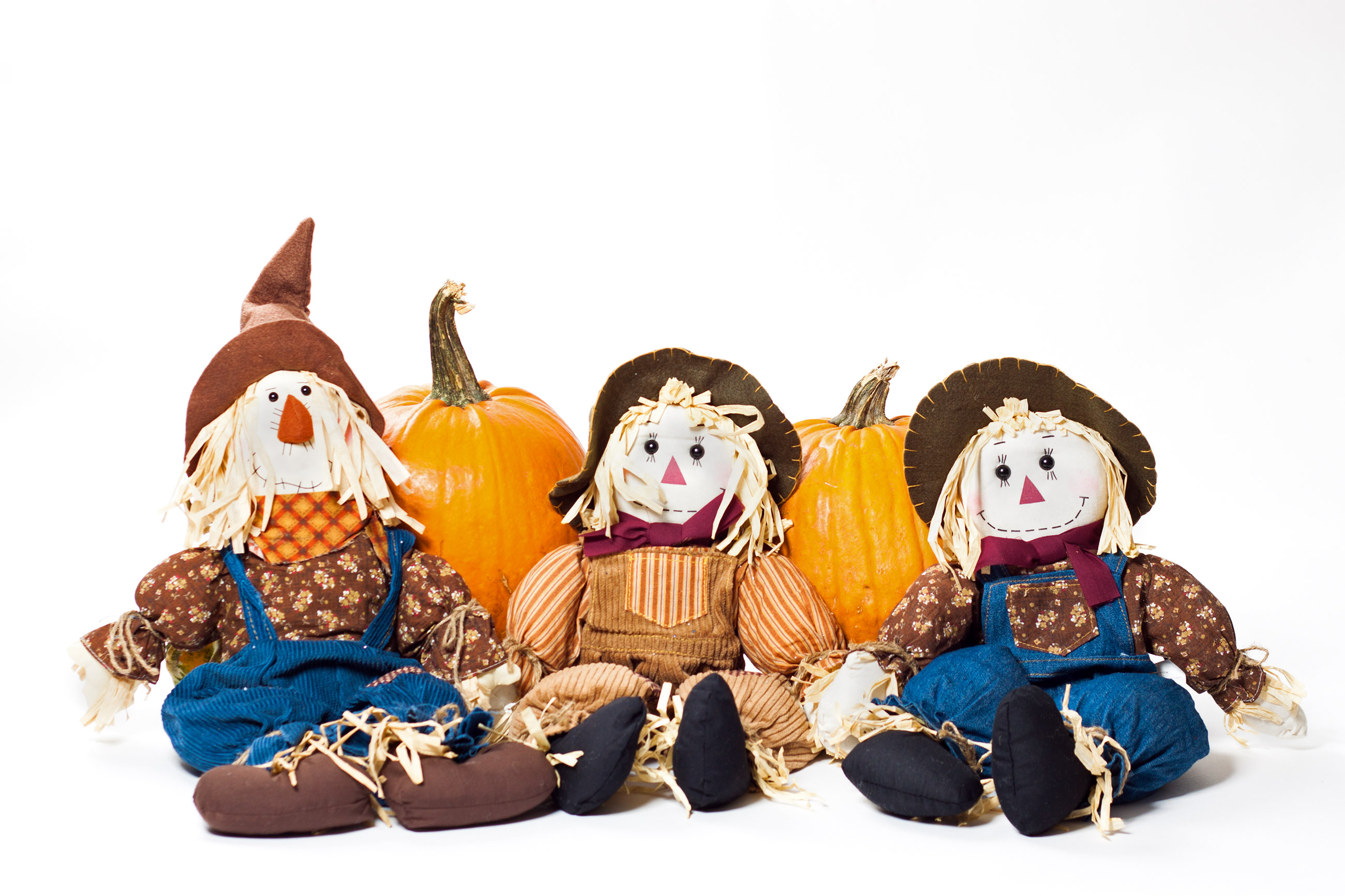 Autumn scarecrows, Autumn, Hay, Holiday, Husk, HQ Photo