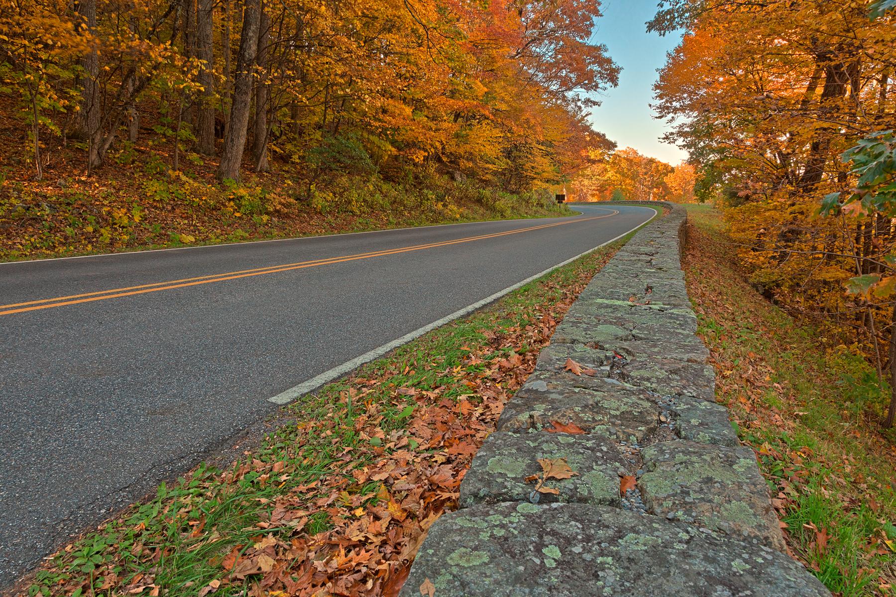 Autumn Skyline Drive - HDR, America, Range, Shade, Serenity, HQ Photo
