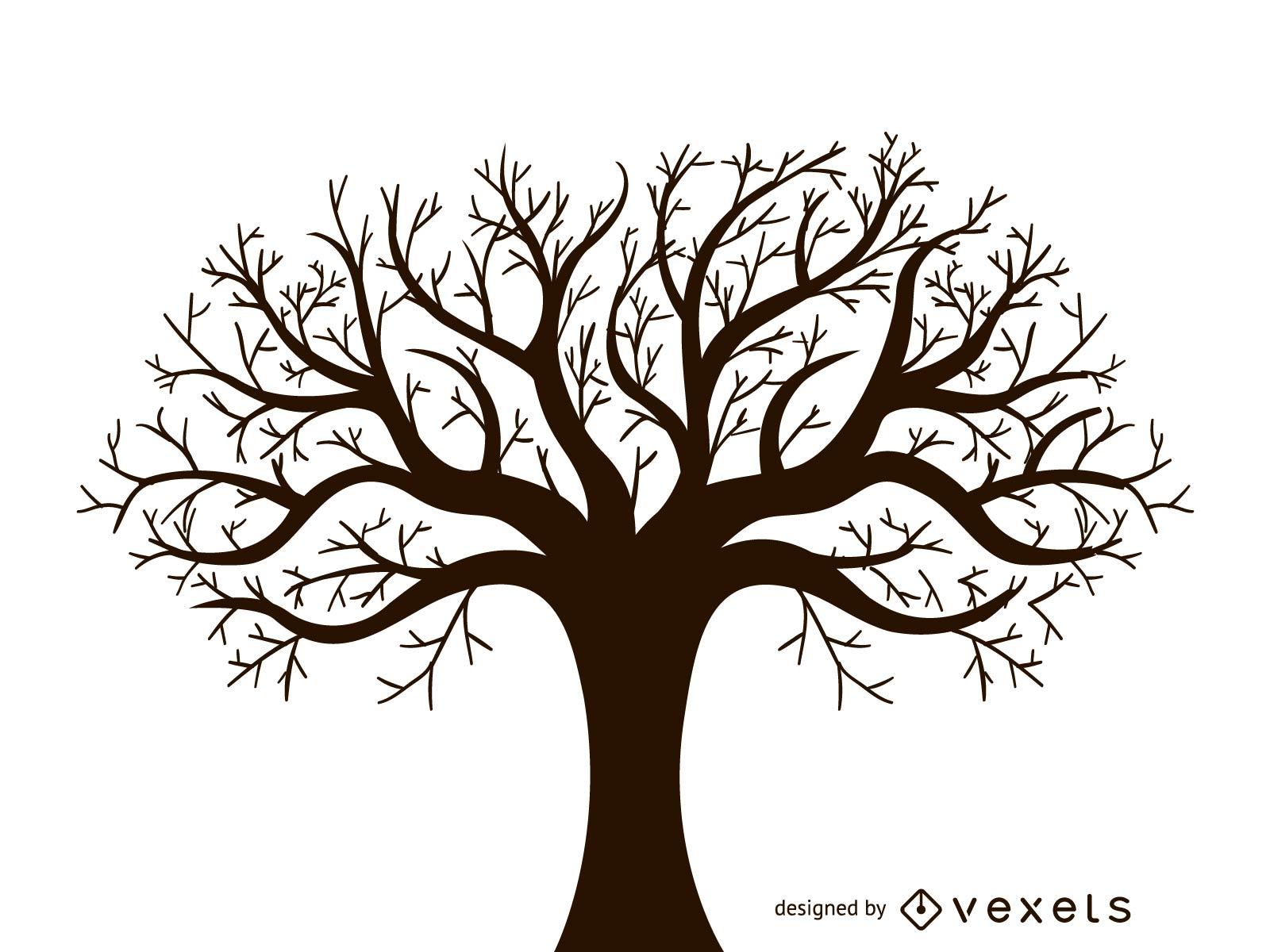 Leafless Autumn Tree Design Vector - Vector download