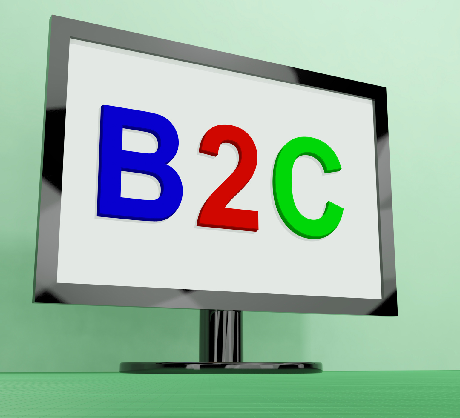 B2c On Monitor Shows Business To Customer Or Consumer, Ecommerce, E-commerce, Customer, Online, HQ Photo