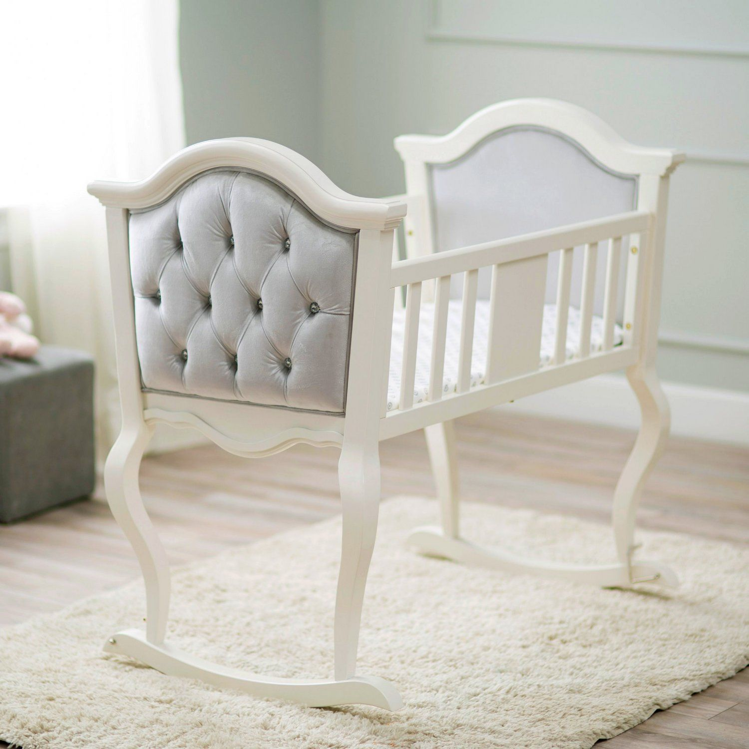 White Wooden Bassinets | Baby products | Pinterest | Babies, Nursery ...