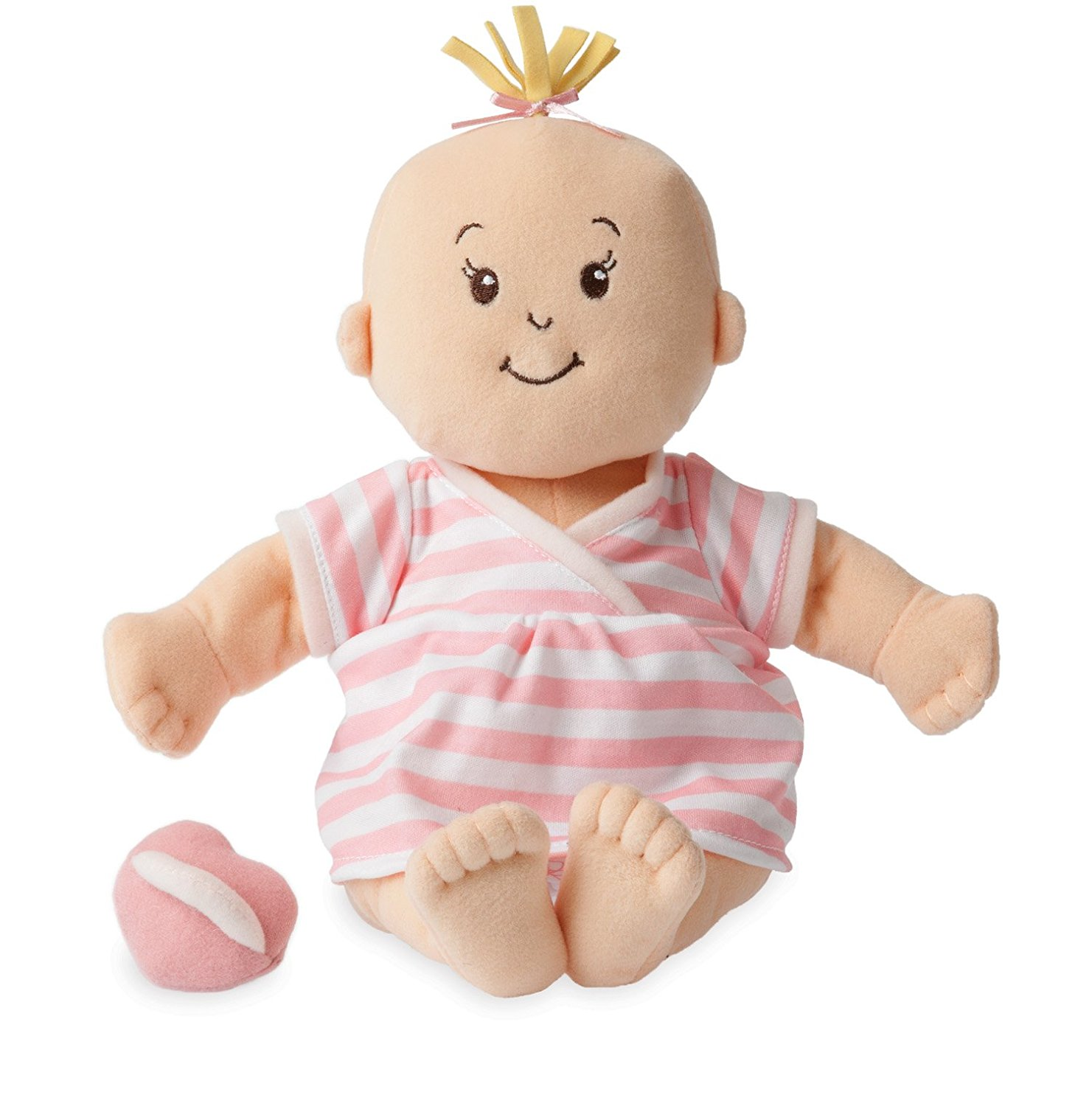 Amazon.com: Manhattan Toy Baby Stella Peach Soft First Baby Doll for ...