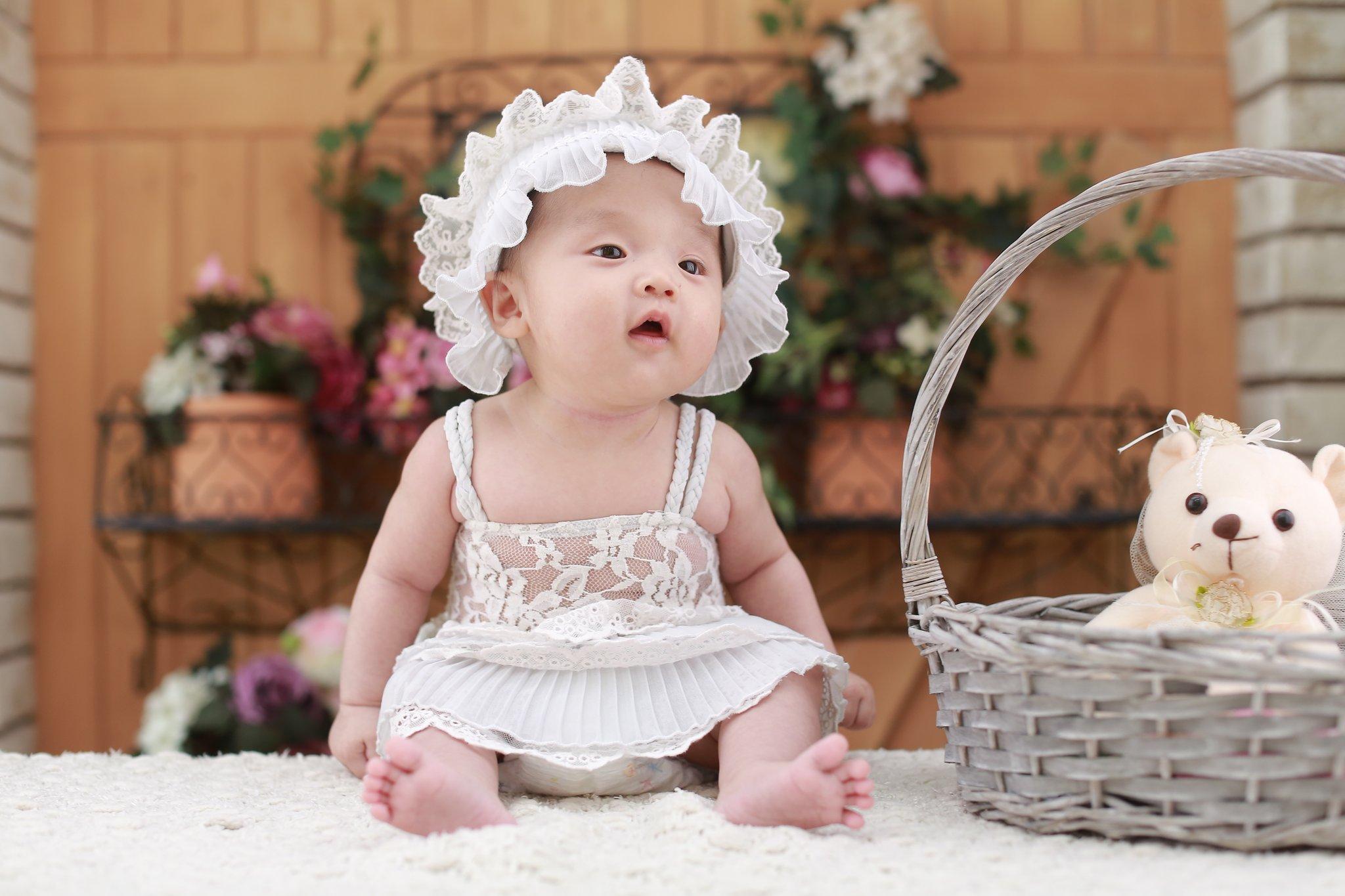 free photo: baby girl - girl, innocent, korean - non-commercial