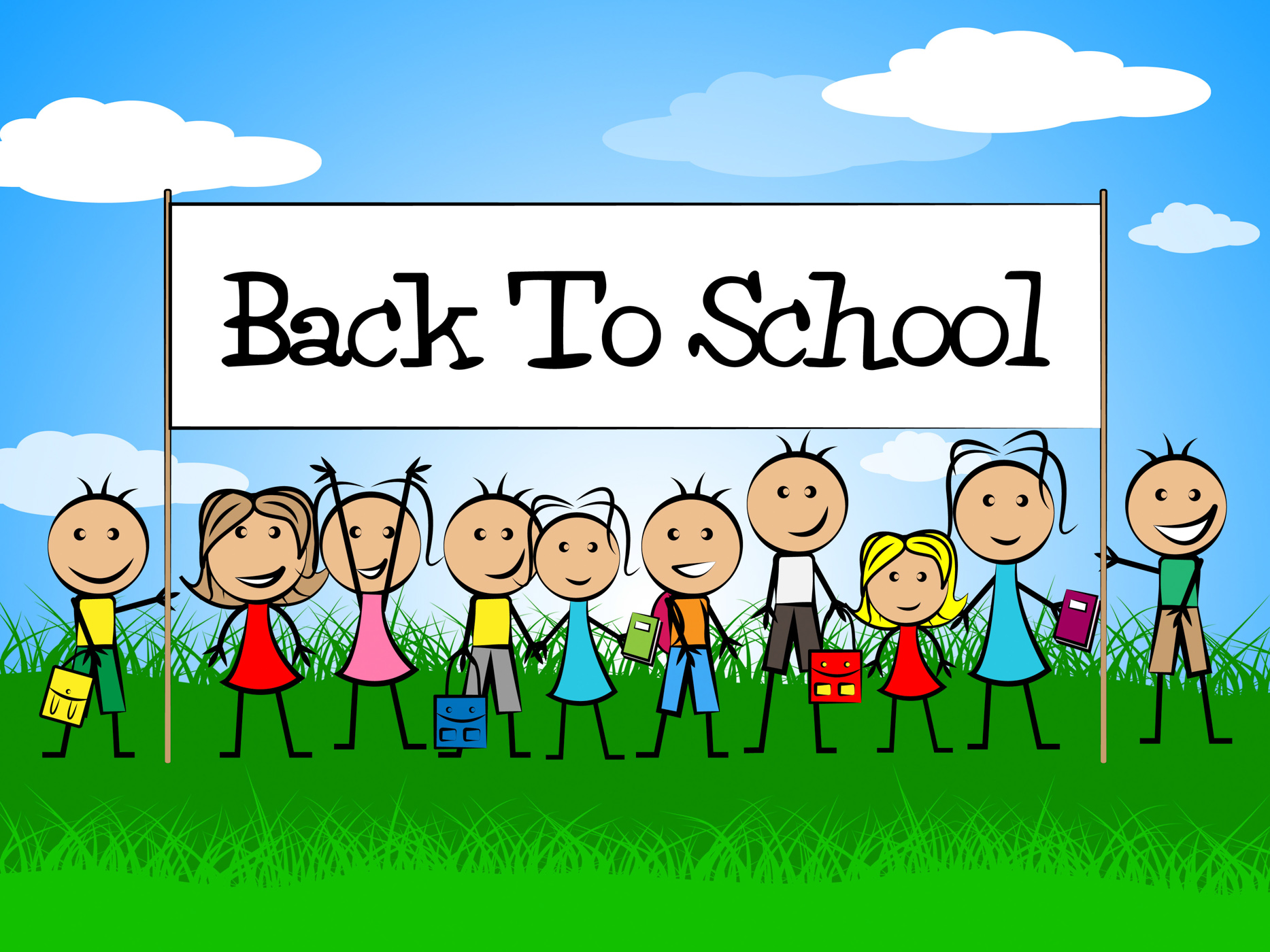 Back To School Means Youths Educate And Education, Backtoschool, School, Youth, Youngsters, HQ Photo