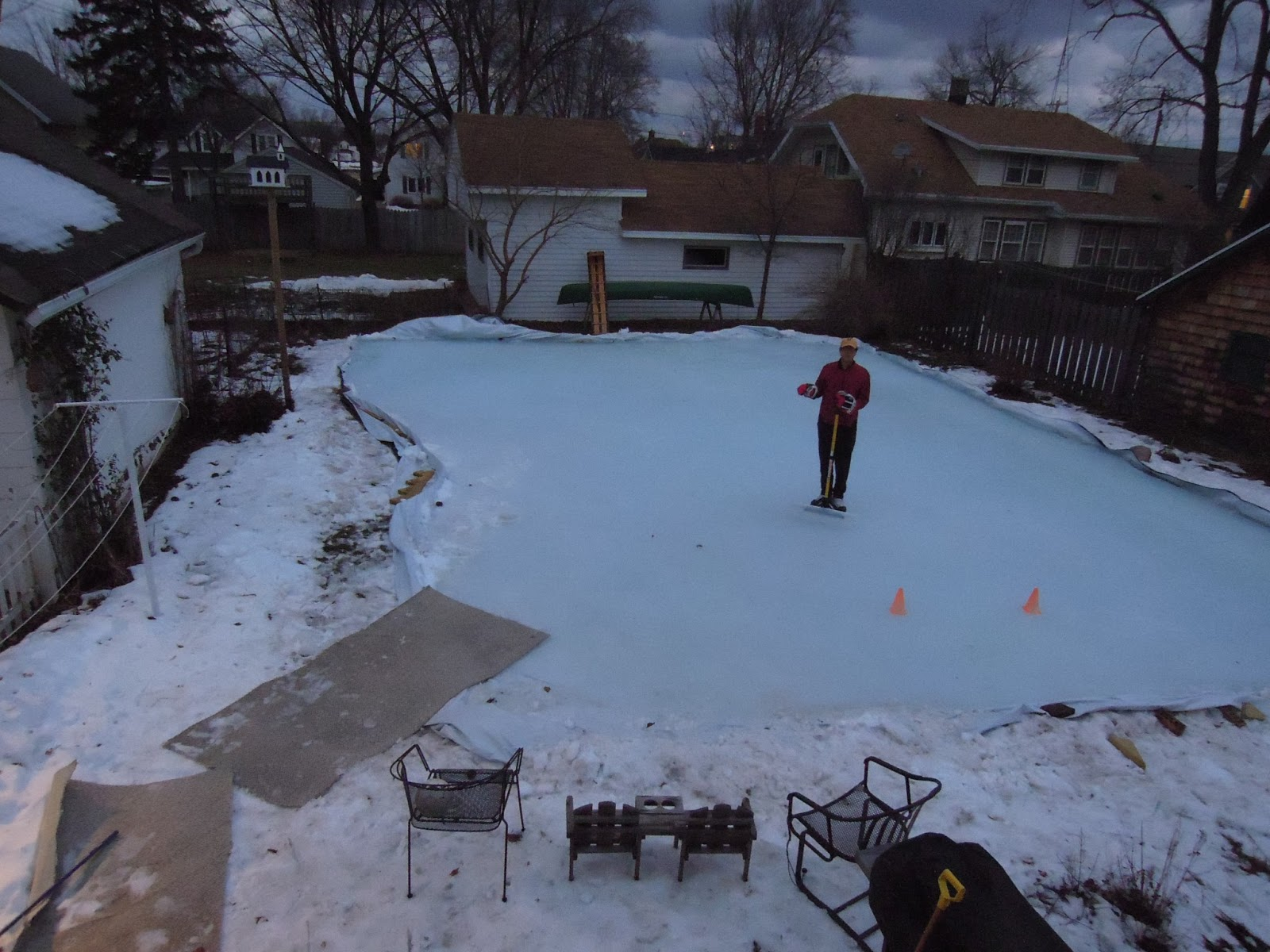 Back yard sledding photo