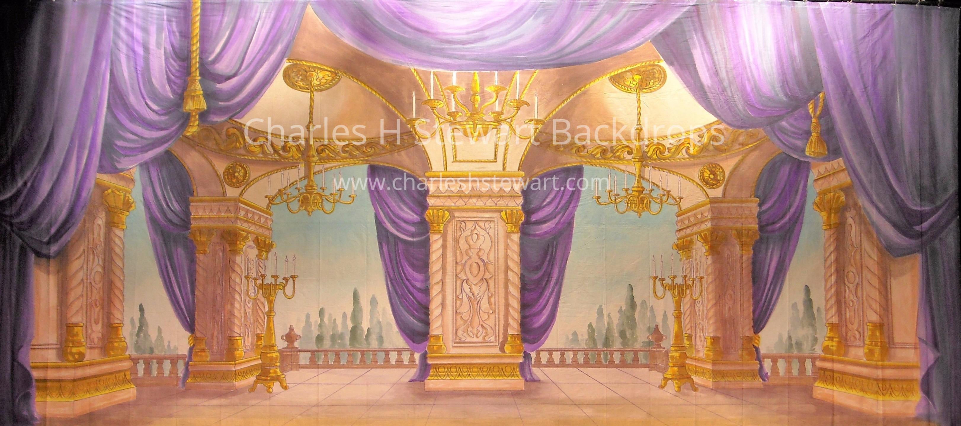 Palace Interior Backdrop - Backdrops by Charles H. Stewart