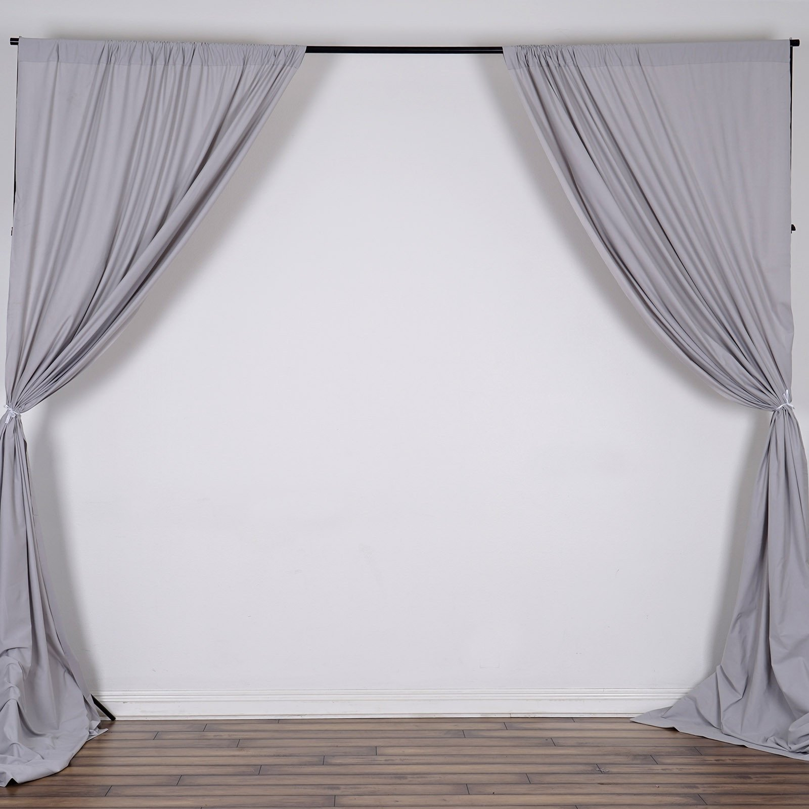 10FT Silver Polyester Curtain Stage Backdrop Partition - Premium ...