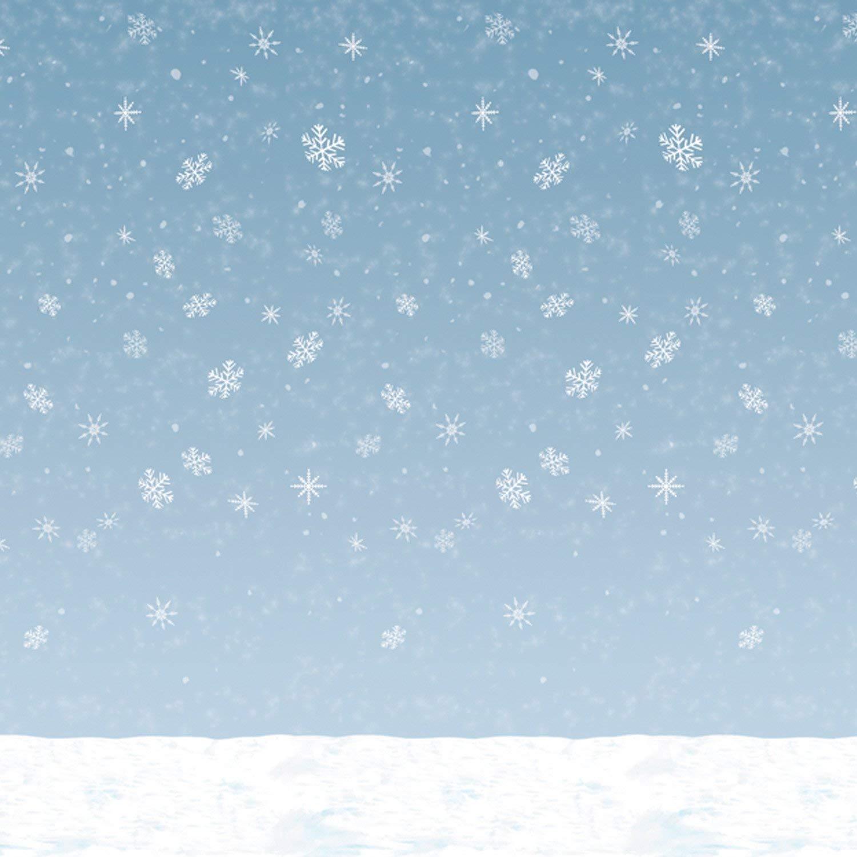 Amazon.com: Winter Sky Backdrop Party Accessory (1 count) (1/Pkg ...