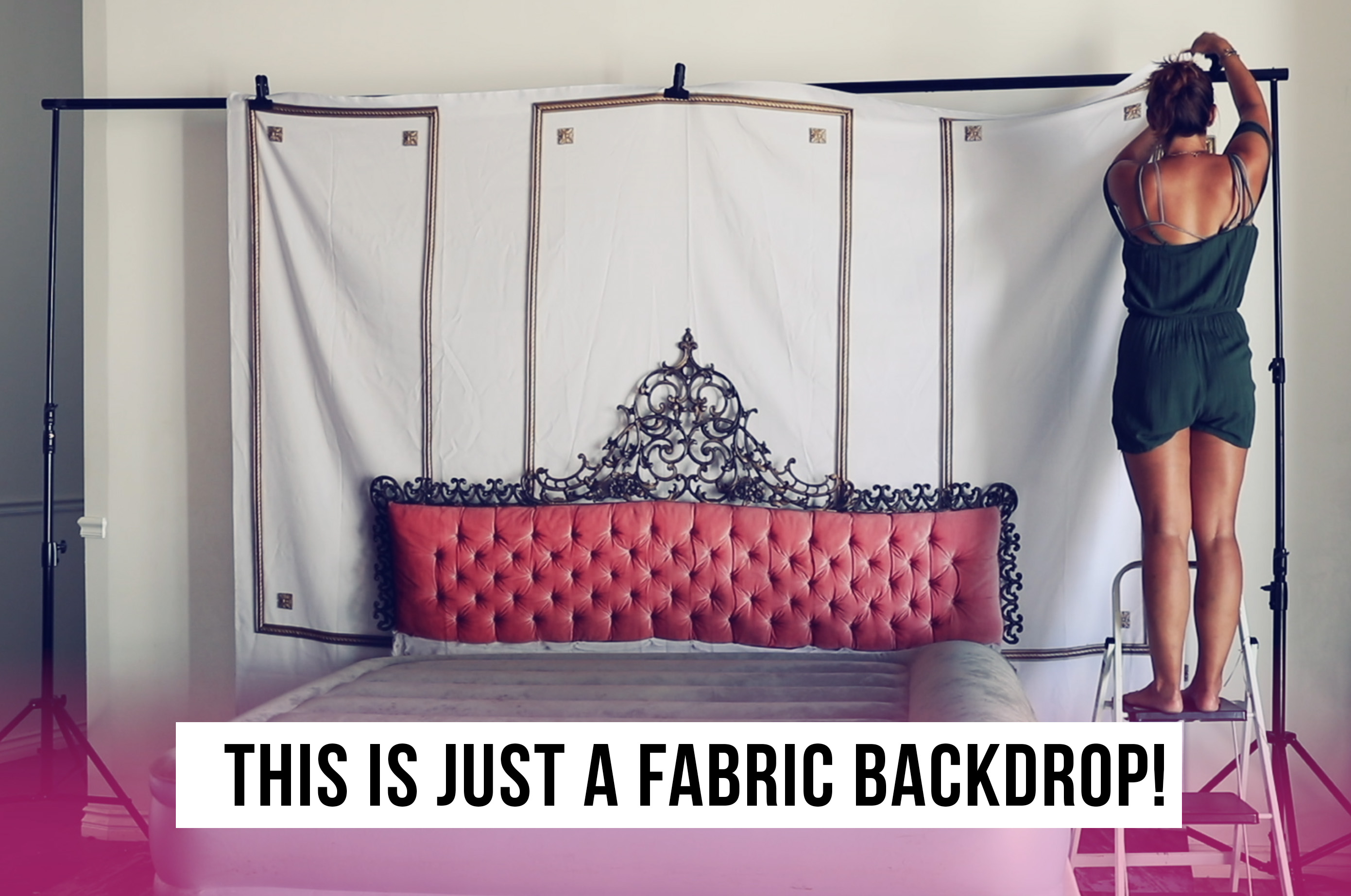 Boudoir Bed Headboard Fabric Backdrop - The Boudoir Divas - San ...