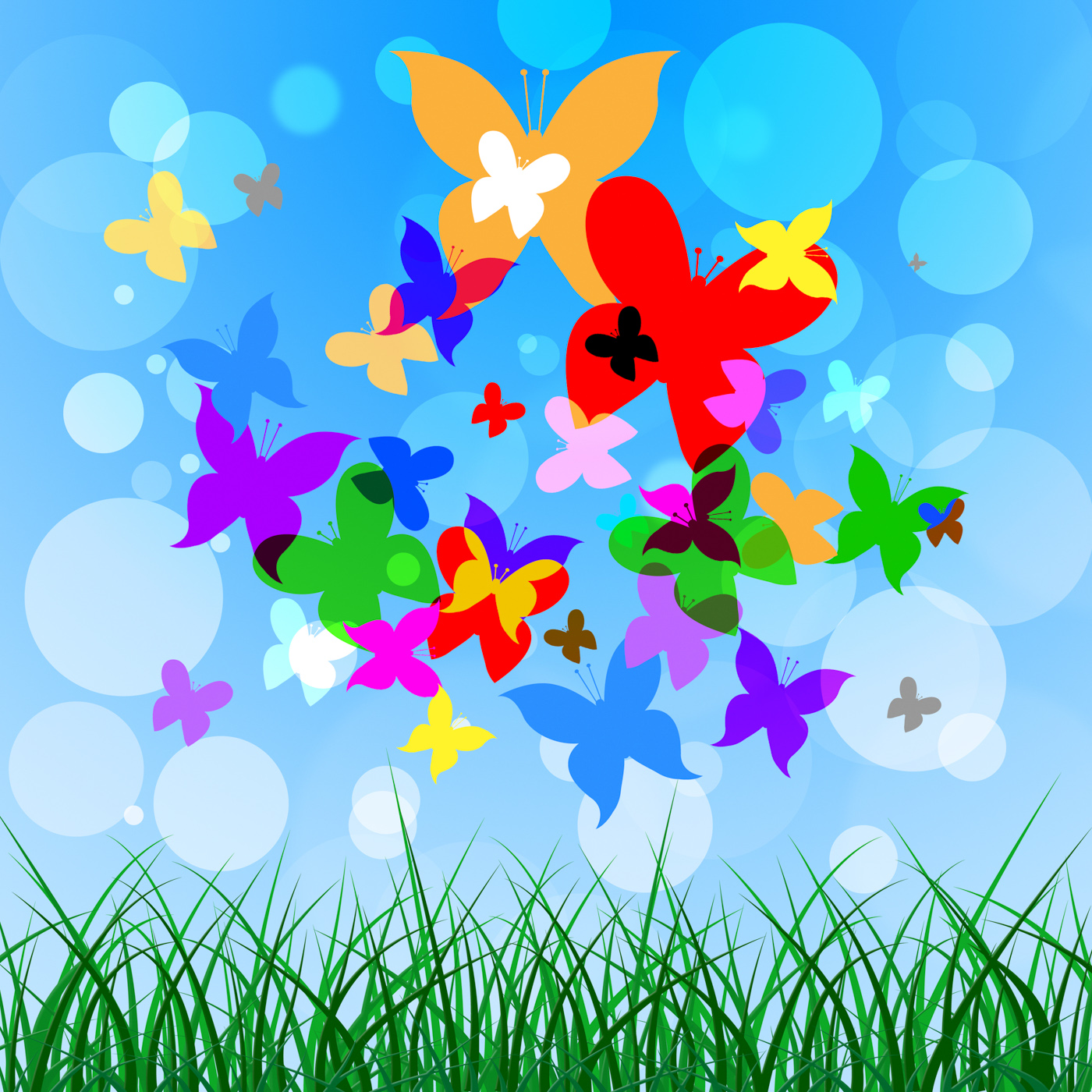 Background Butterflies Represents Summer Time And Creature, Heat, Warm, Template, Summertime, HQ Photo