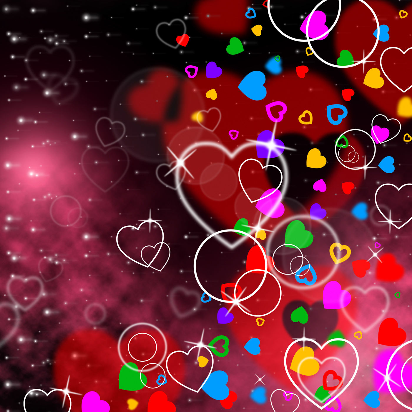 Background heart means valentines day and affection photo