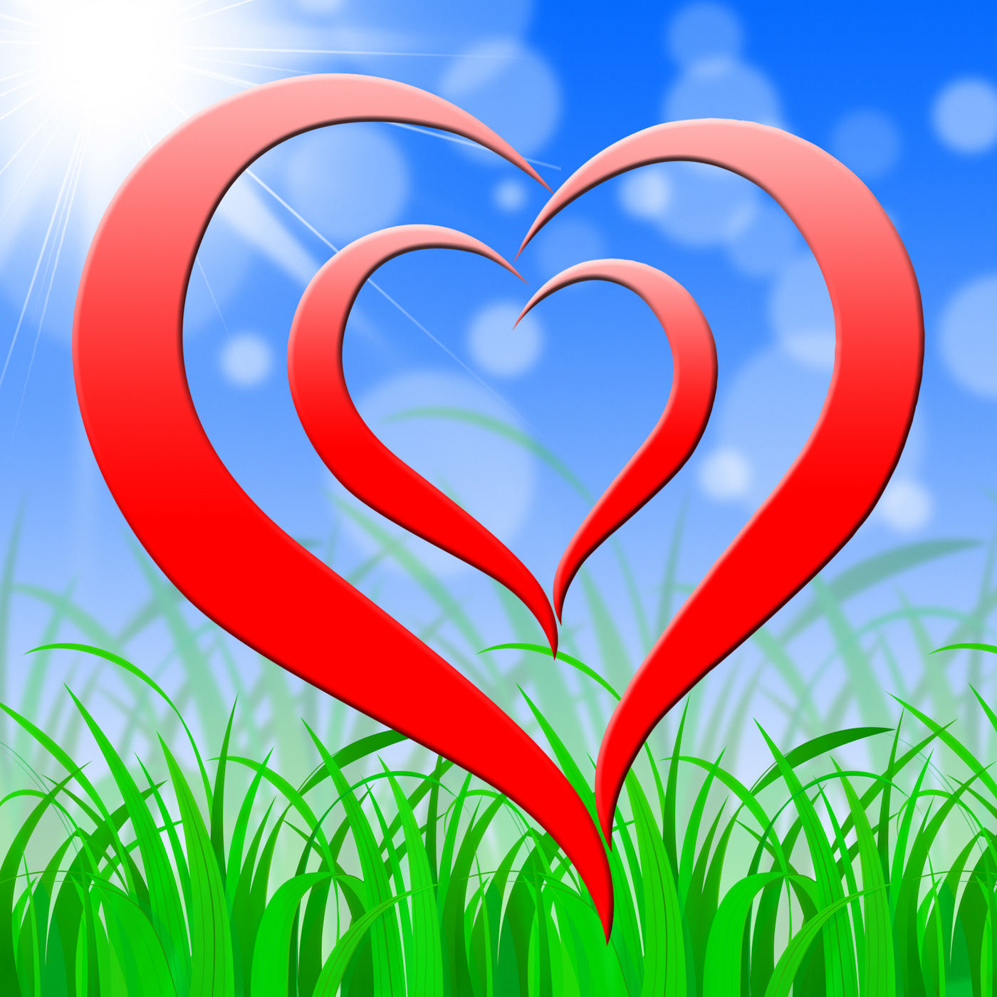 Background heart shows valentines day photo