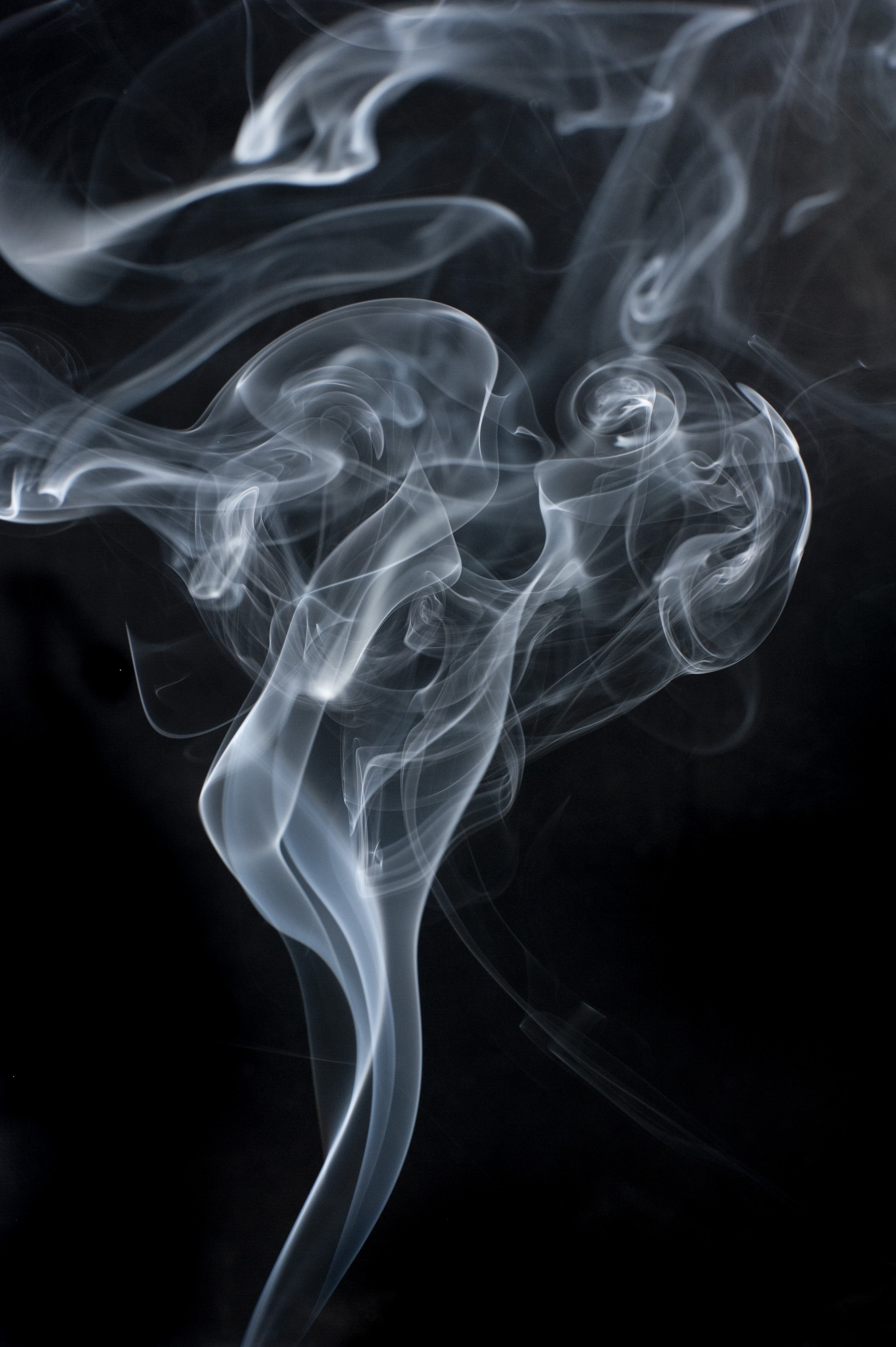 Smoke on black photo