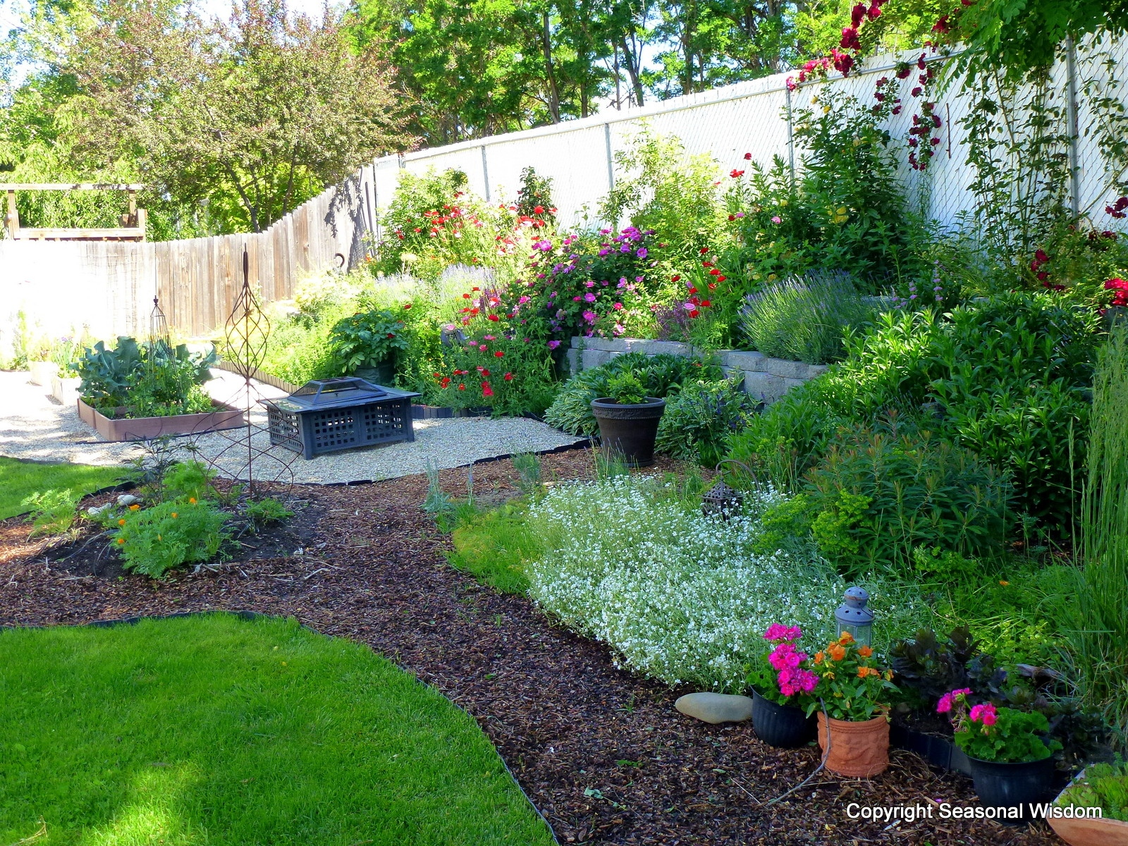 Low Budget Flower Garden Ideas Elegant Backyard Awesome Backyard ...