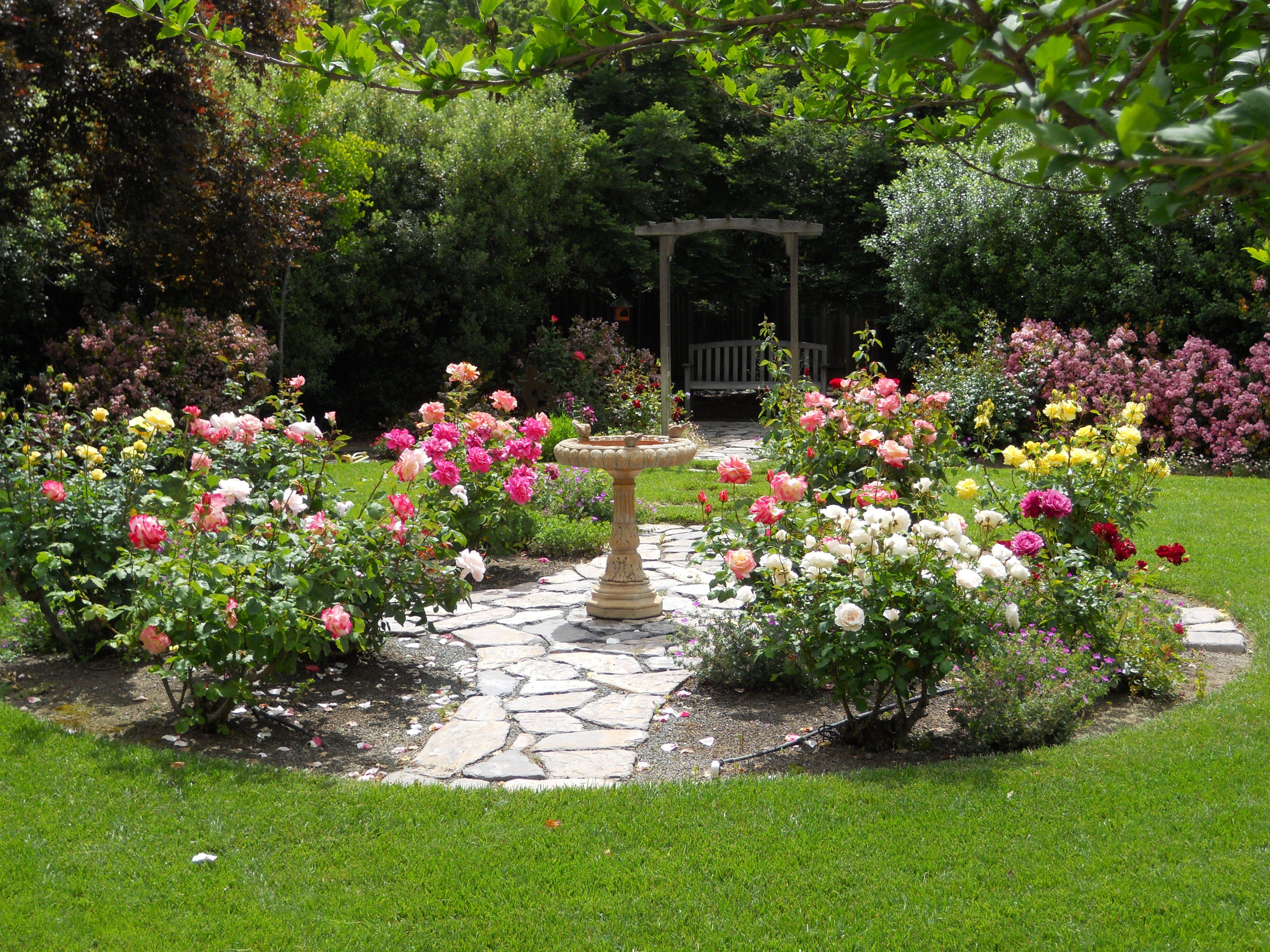 Backyard Flower Garden Designs - Unique Simple Design Ideas Rose ...
