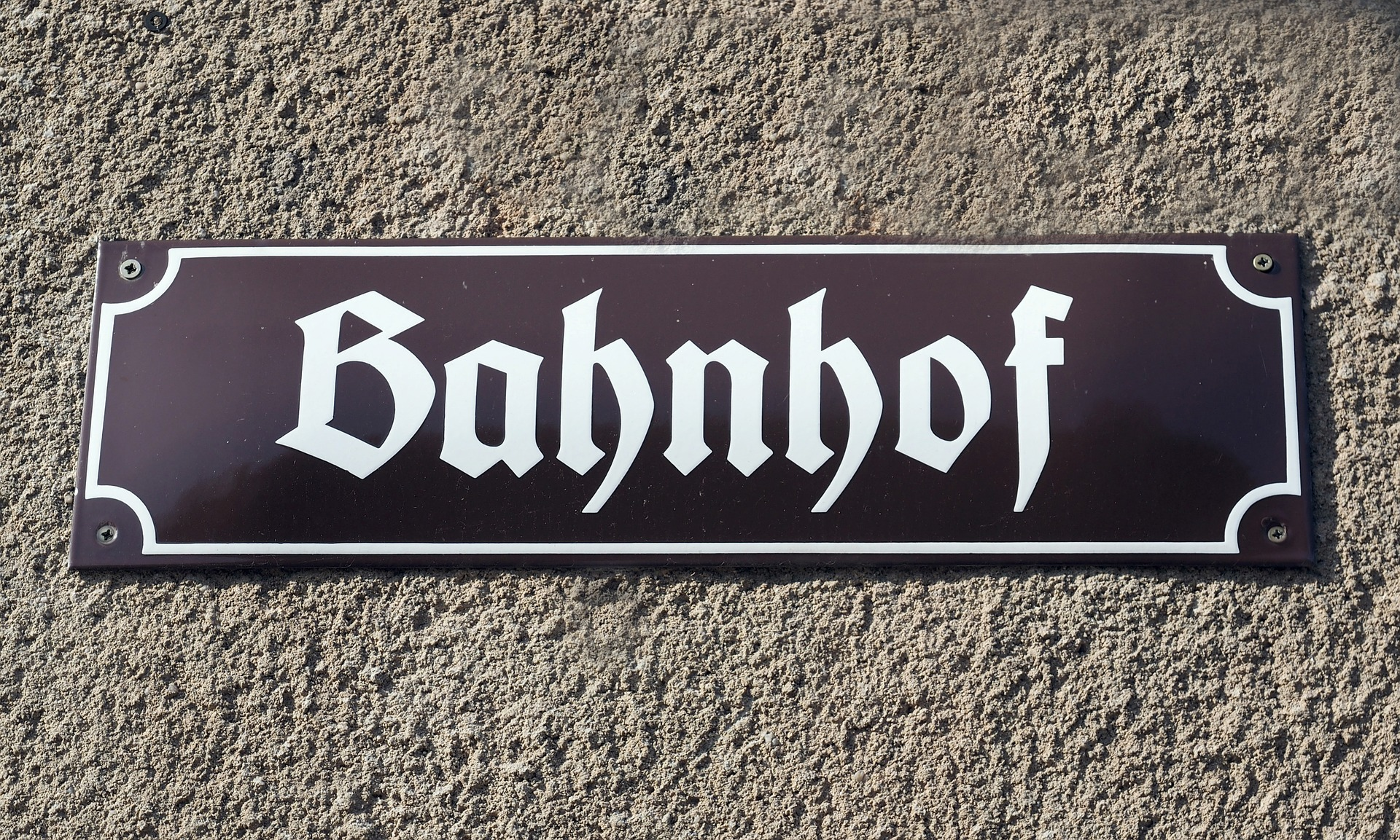 Bahnhof Sign, Shield, Sign, Plate, Nameplate, HQ Photo