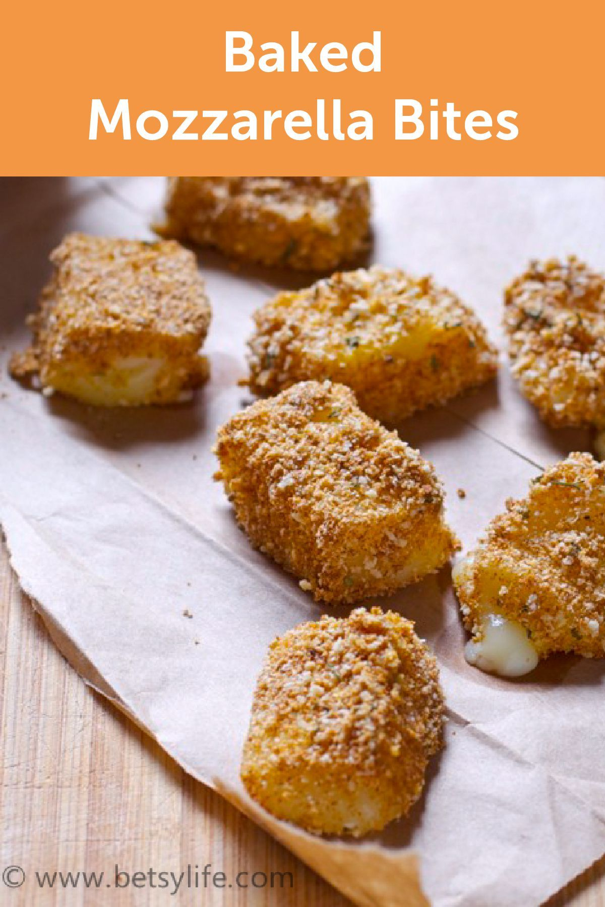 Looking for an easy football recipe? These Baked Mozzarella Bites ...