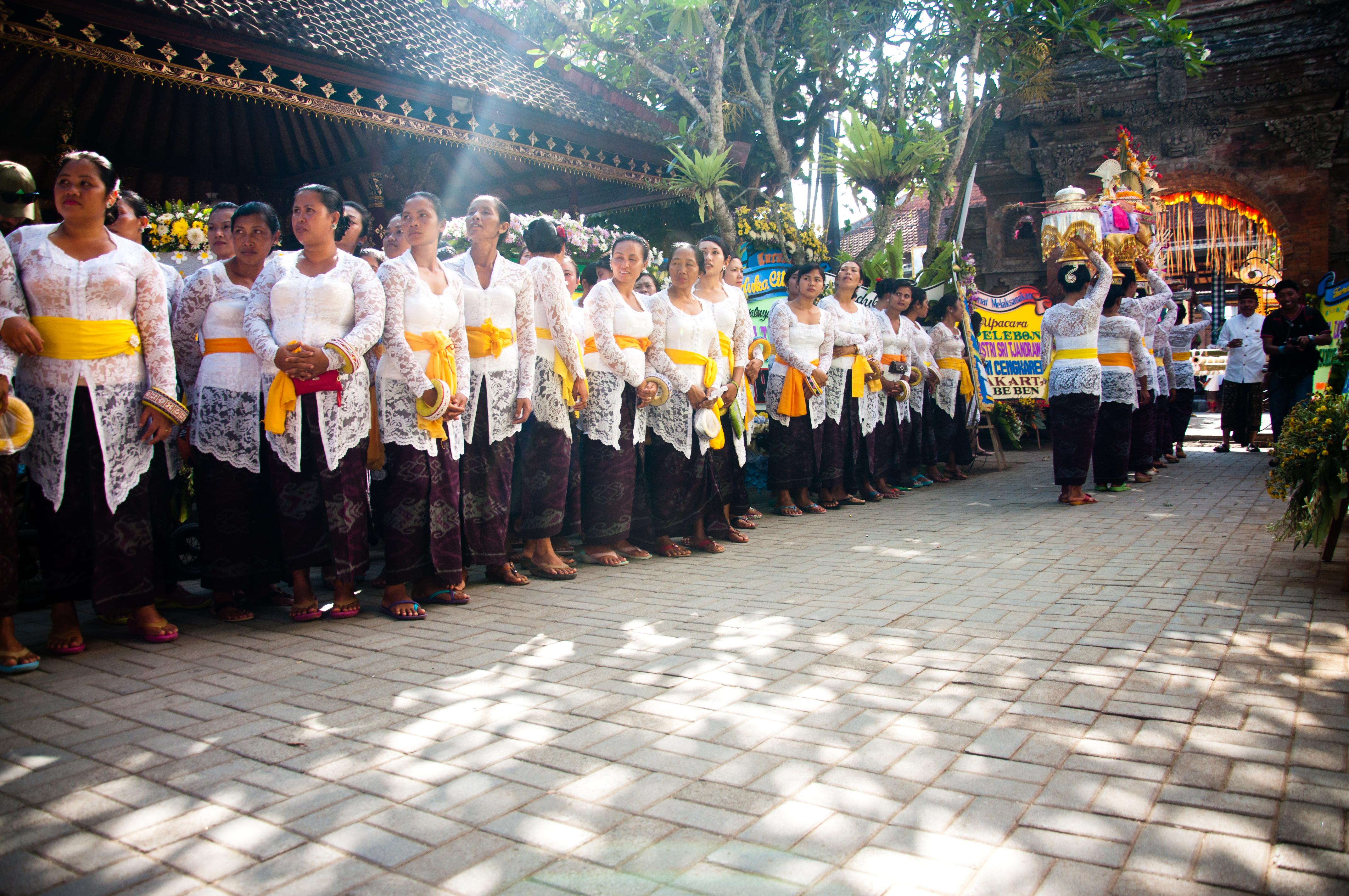 Bali ceremony in temple photo