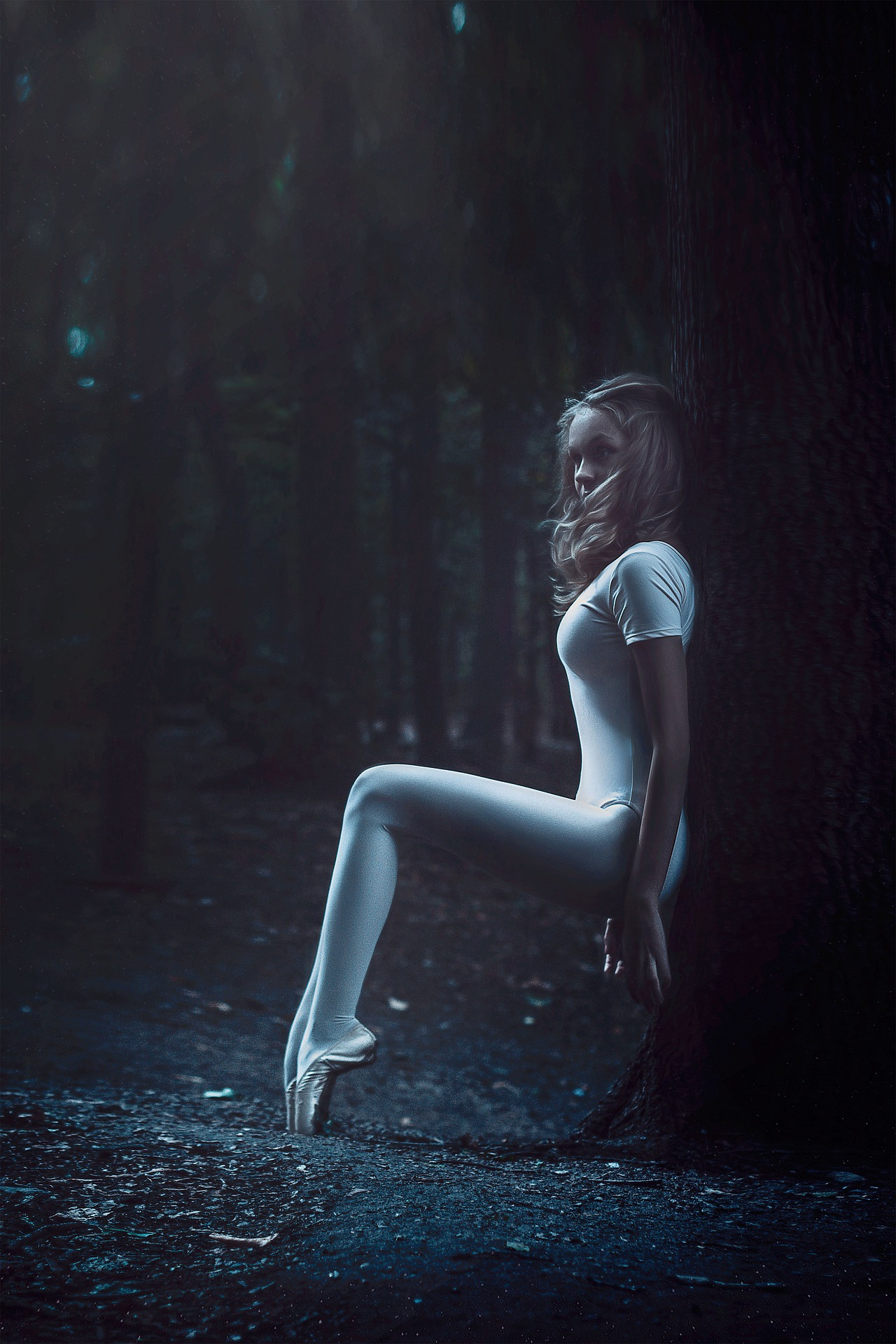 Ballerina in the forest photo