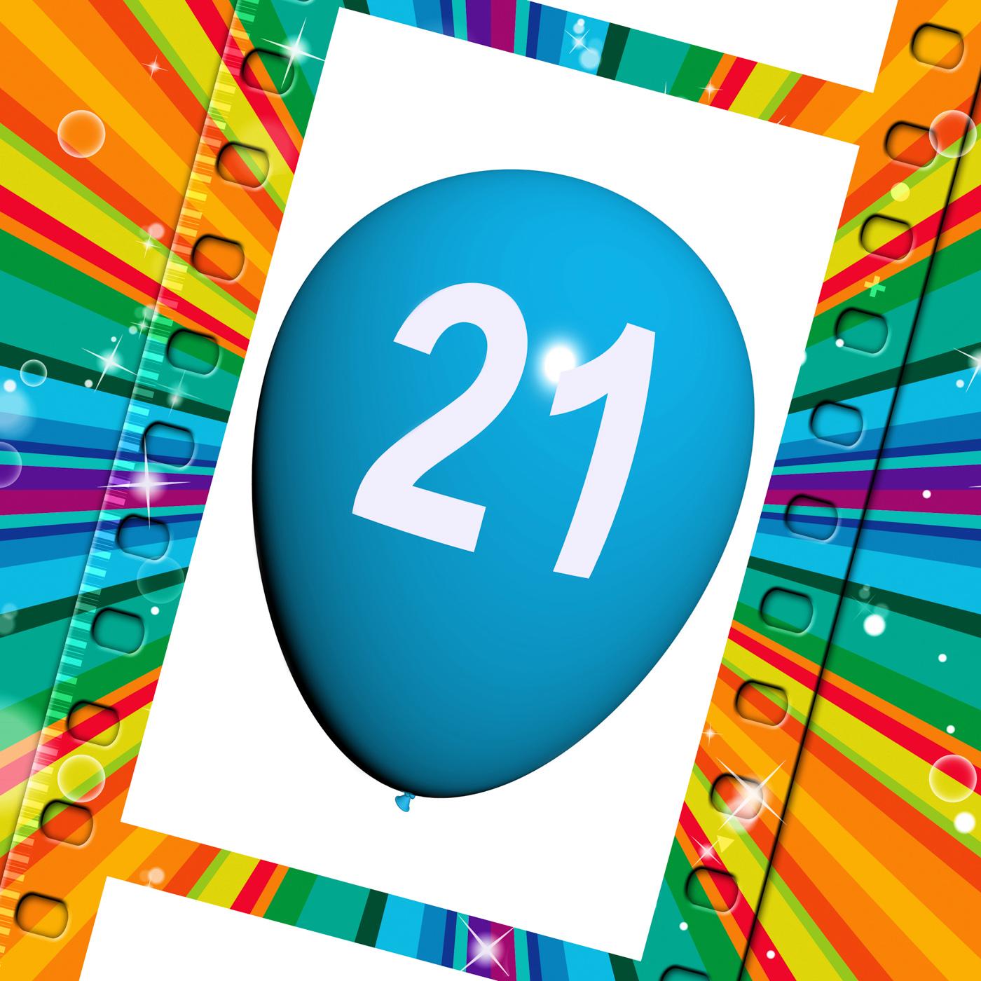 Balloon Shows Twenty-first Happy Birthday Celebrations, 21, 21st, Adult, Adulthood, HQ Photo