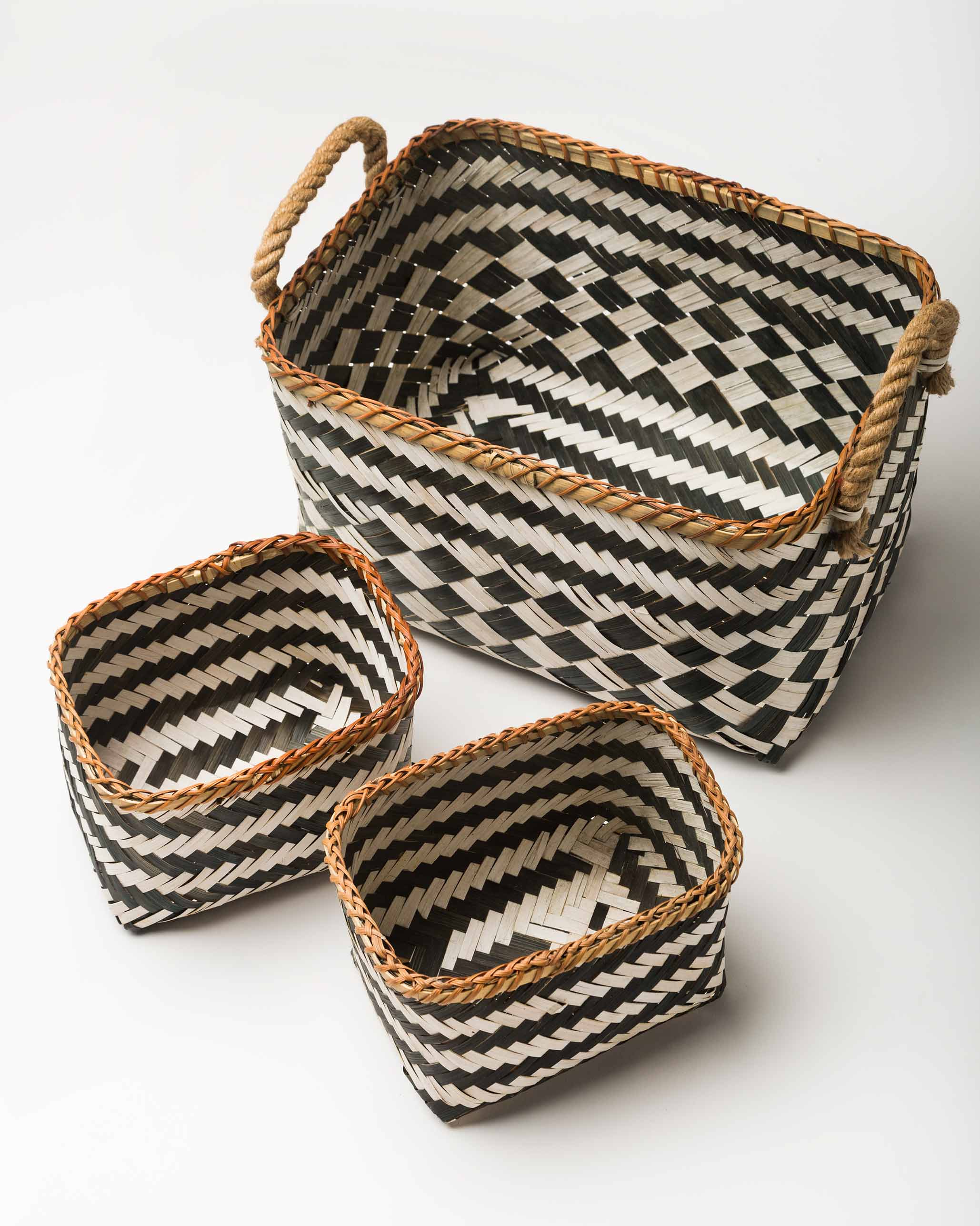 Ceylon Bamboo Basket (Set of 3) from New Arrivals collection at Nicobar