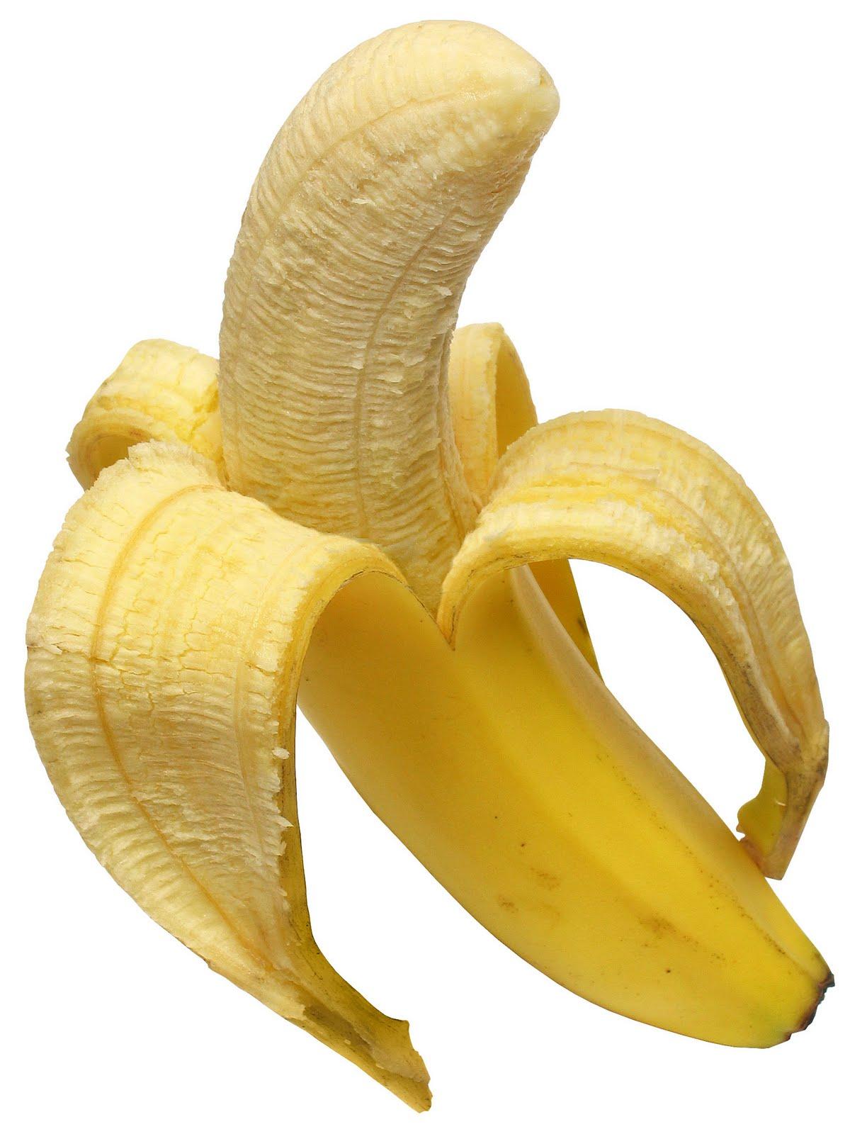 Peeled banana photo