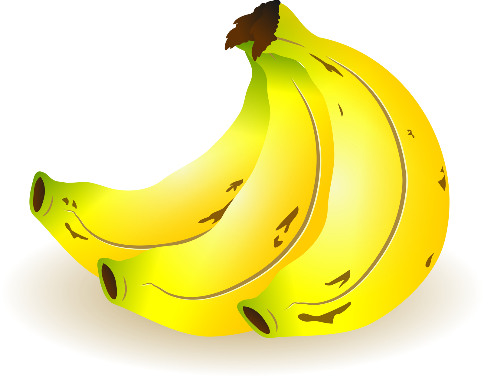 Banana Clipart, Snack, Sweet, Yellow, Graphic, HQ Photo