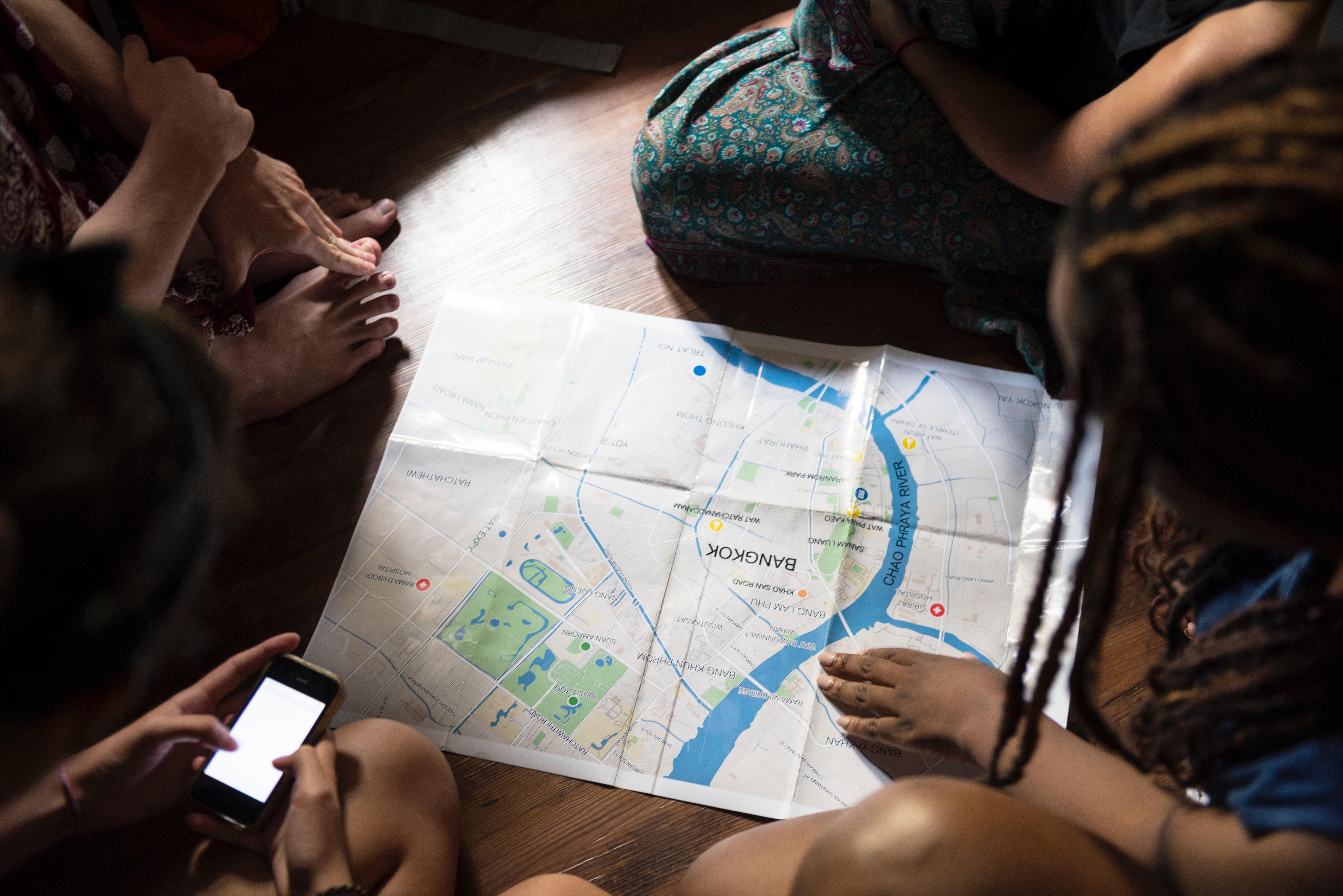 Bangkok Map, Asia, Phone, Travel, Tourists, HQ Photo