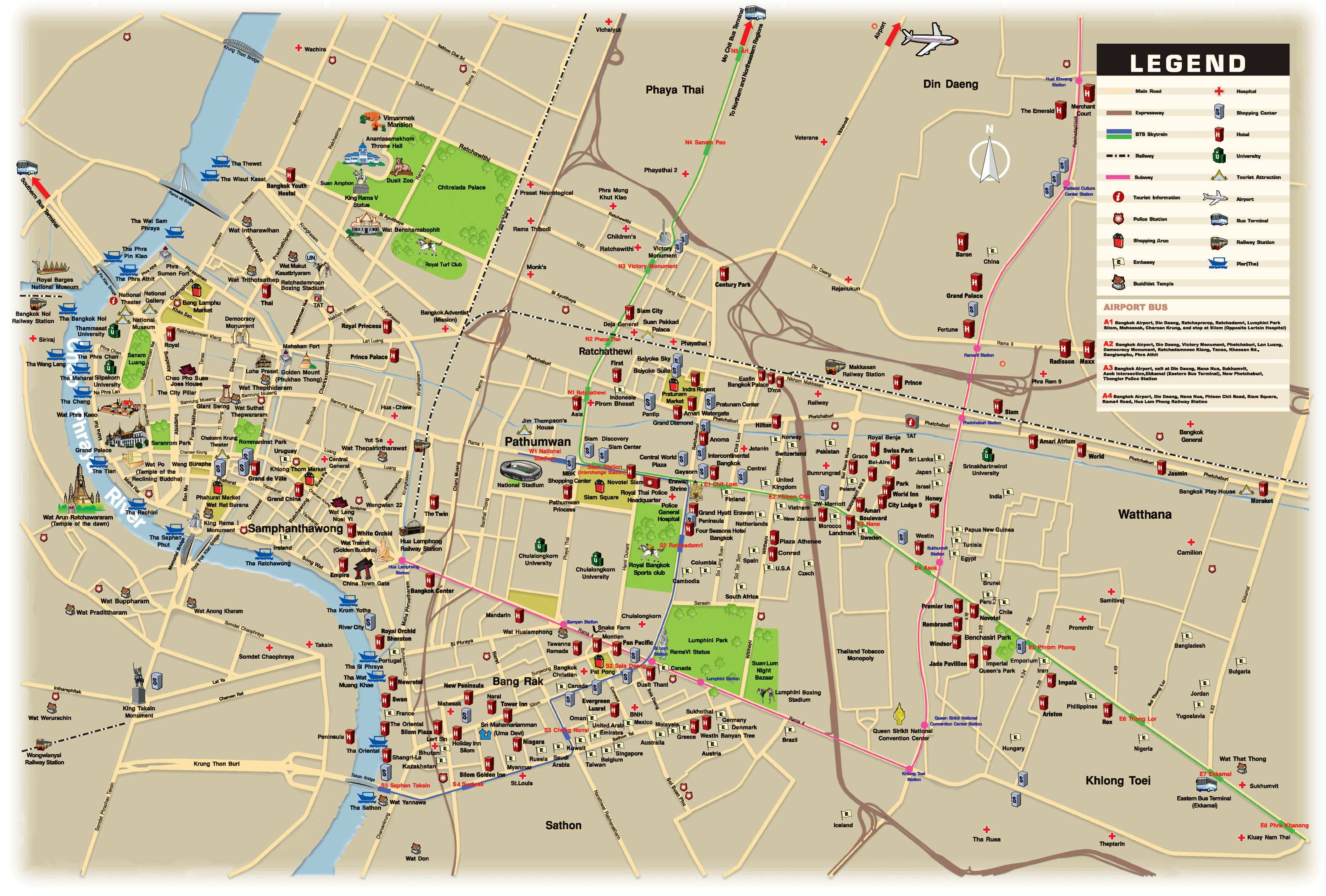 Large Bangkok Maps for Free Download and Print | High-Resolution and ...