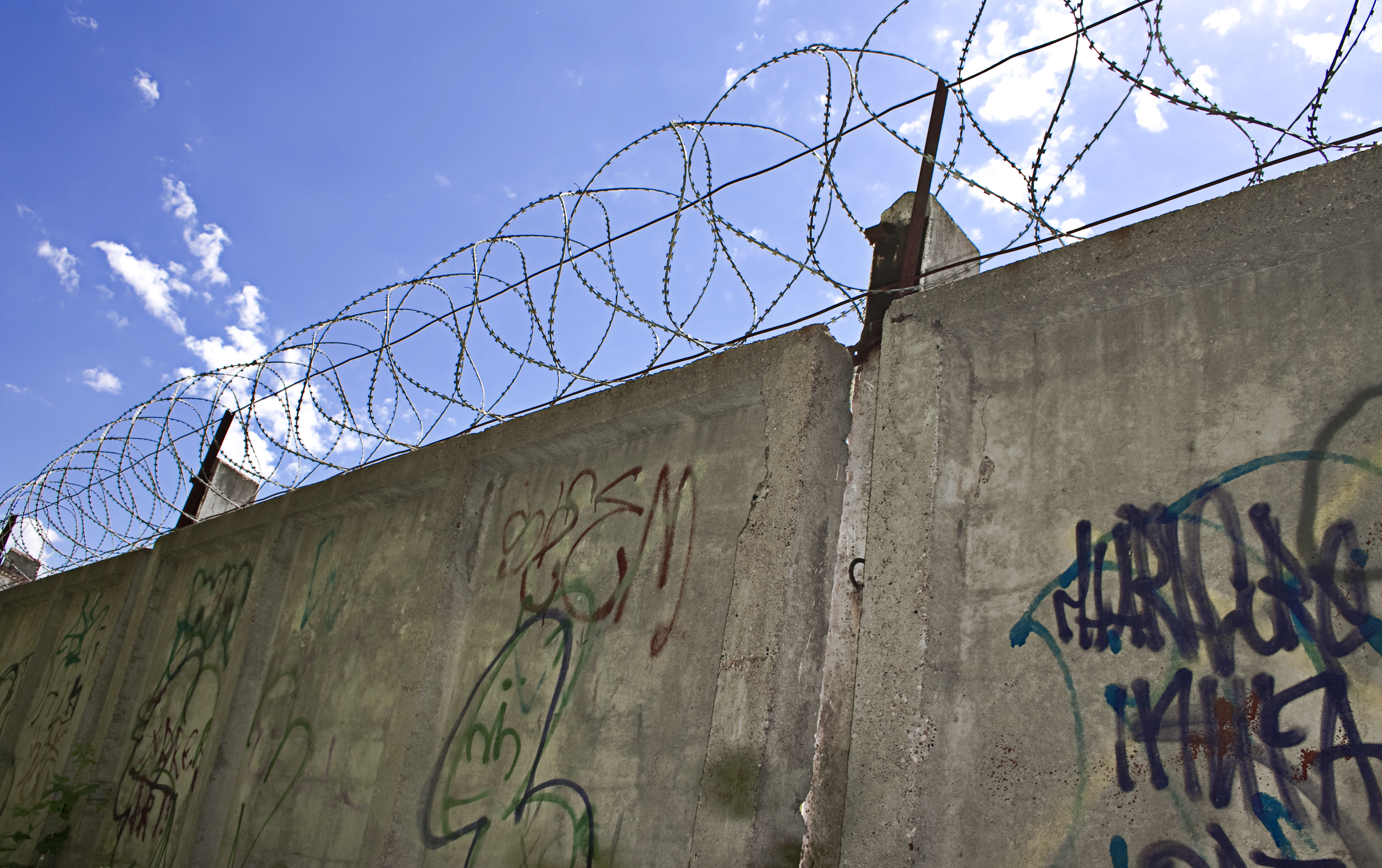 Barbed wire wall photo