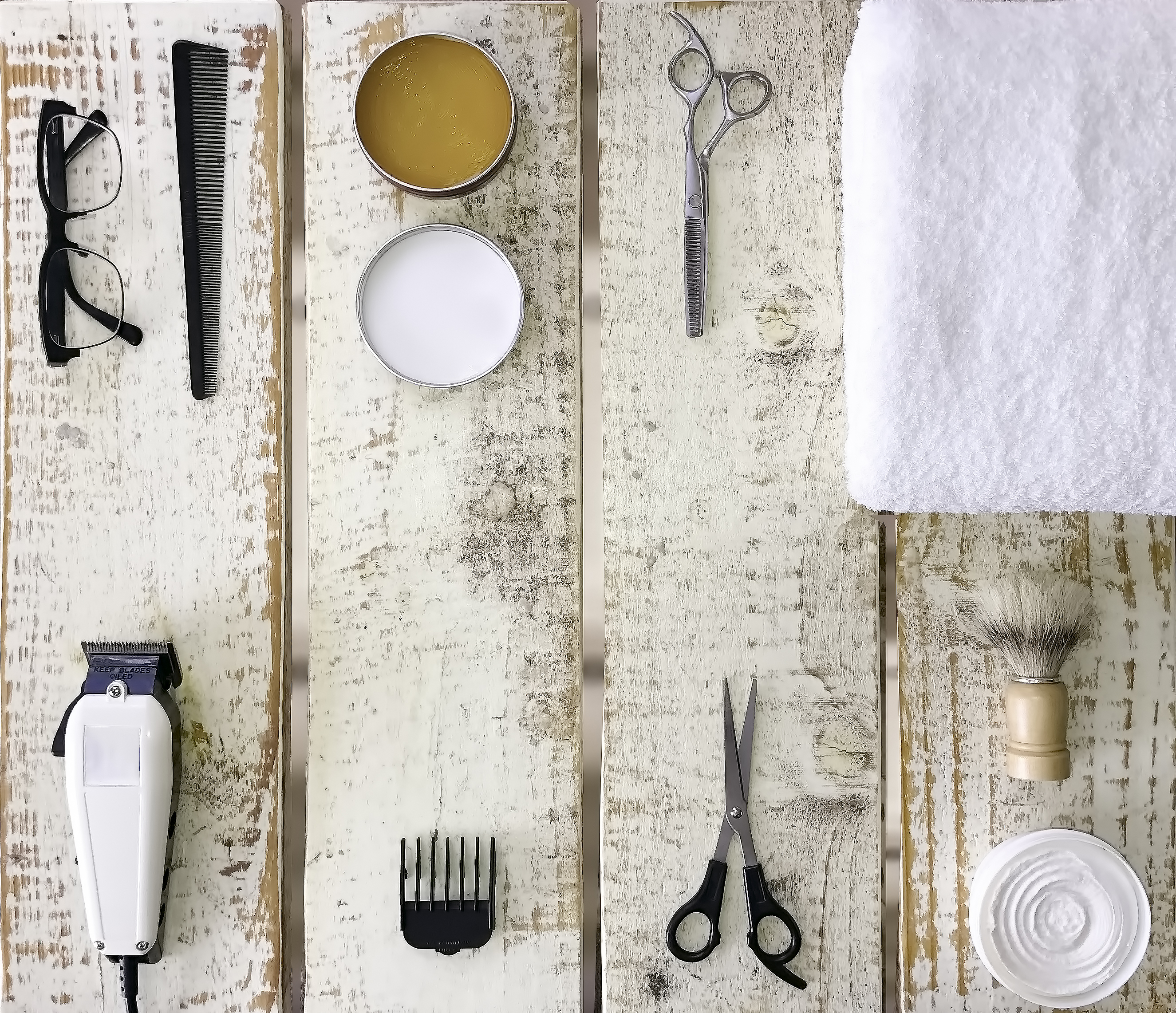 Barbers Table, Barber, Comb, Cream, Electric, HQ Photo