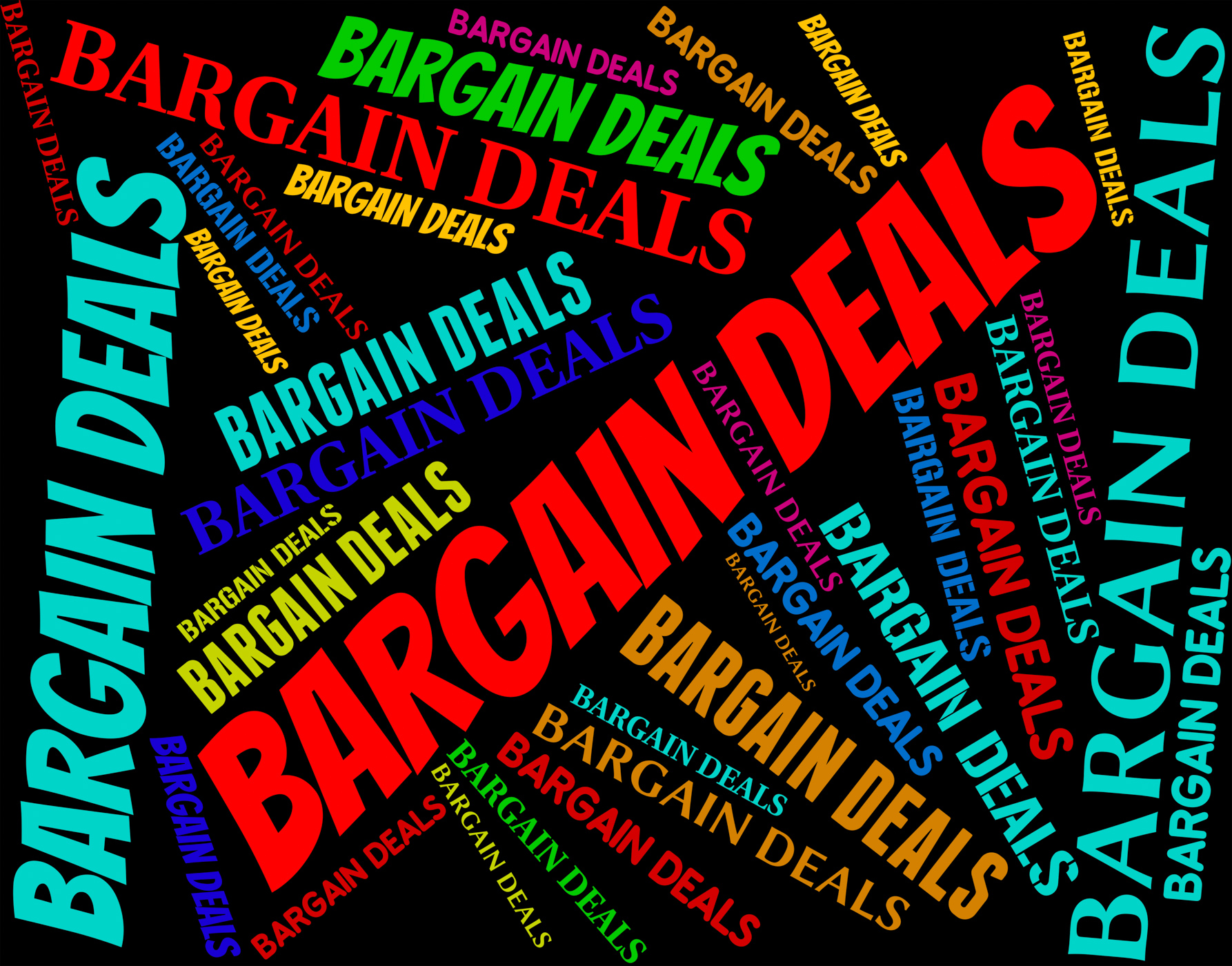 Bargain deals indicates words contract and transactions photo