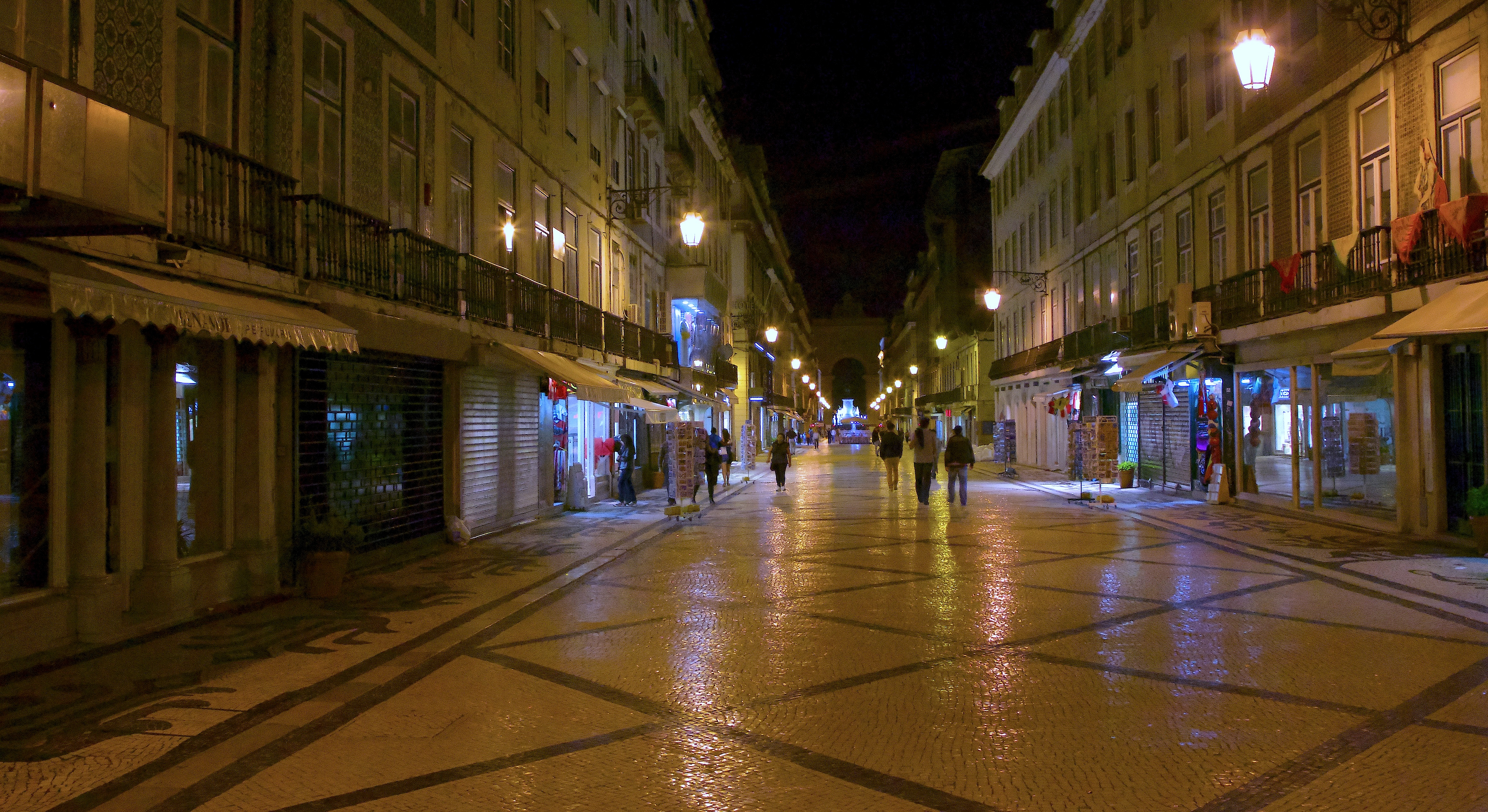 Baroque streets of lisbon photo