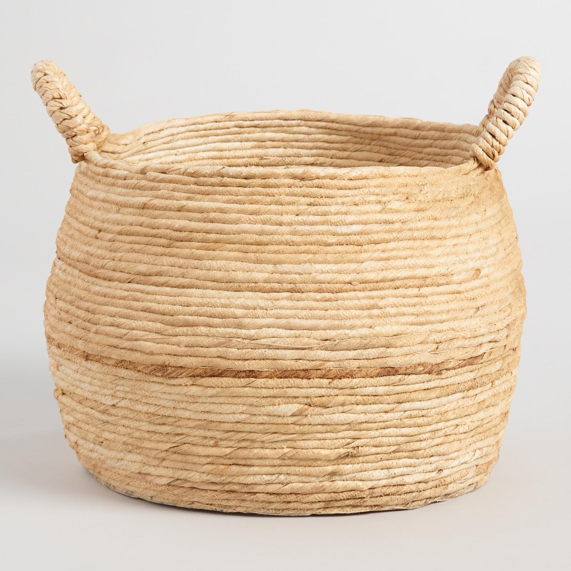 Large Banana Delilah Tote Basket   World Market