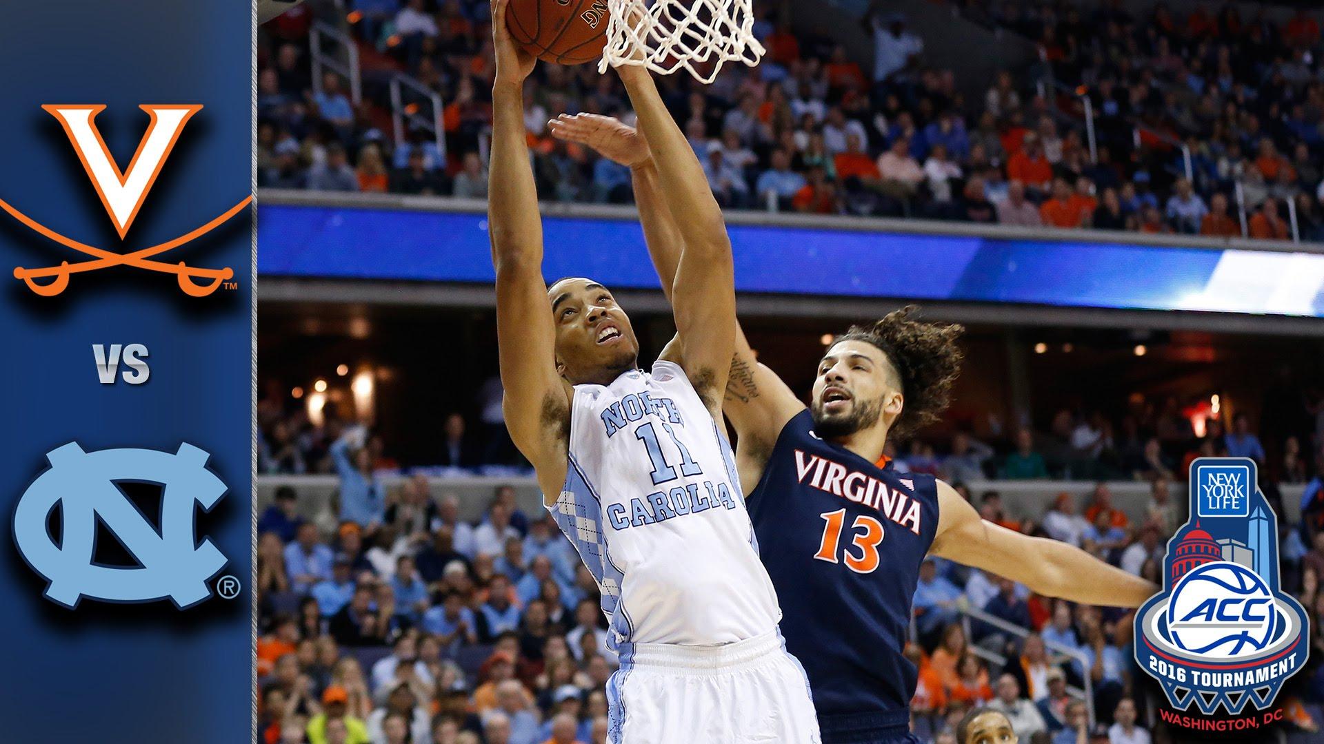 Virginia vs. North Carolina 2016 ACC Basketball Championship Game ...