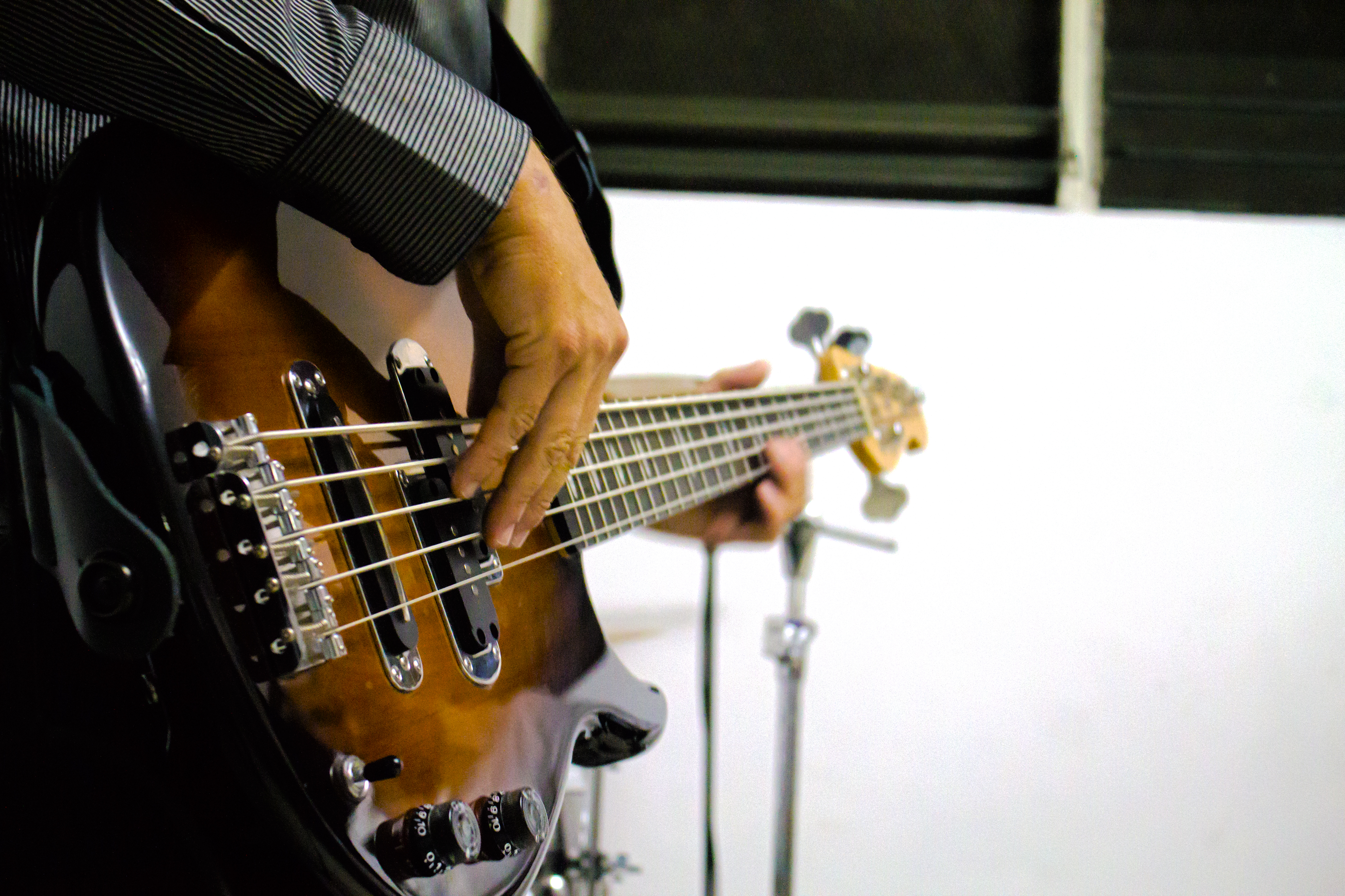Bass, Band, Close-up, Electric, Hands, HQ Photo