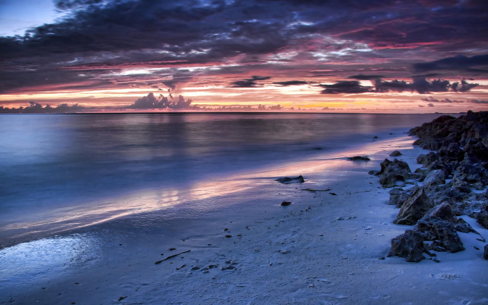 Free Photo Beach At Night